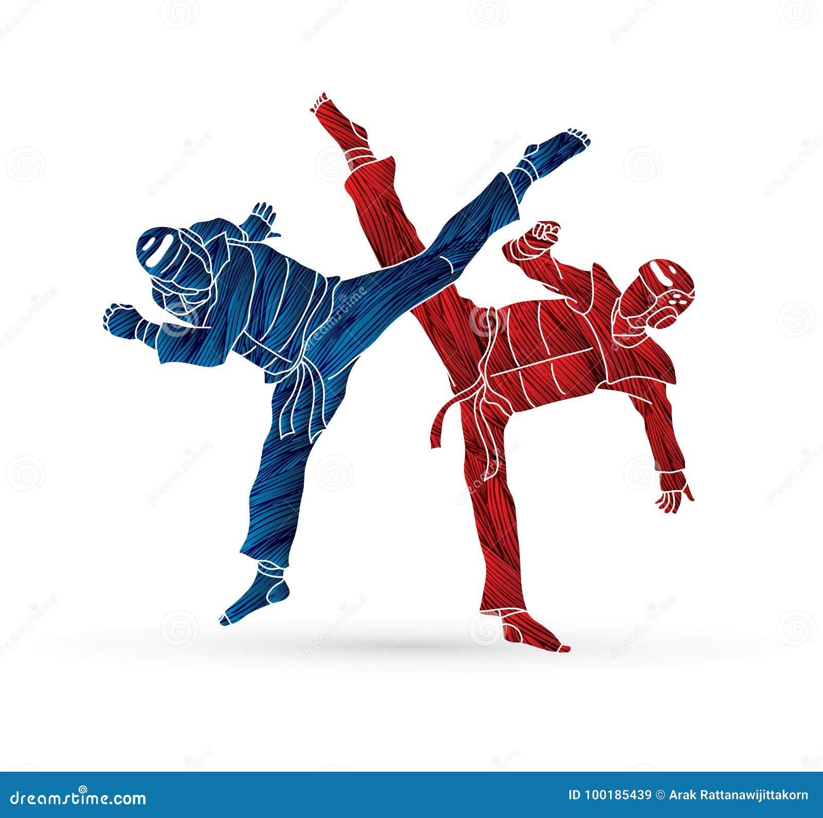 Taekwondo fighting competition
