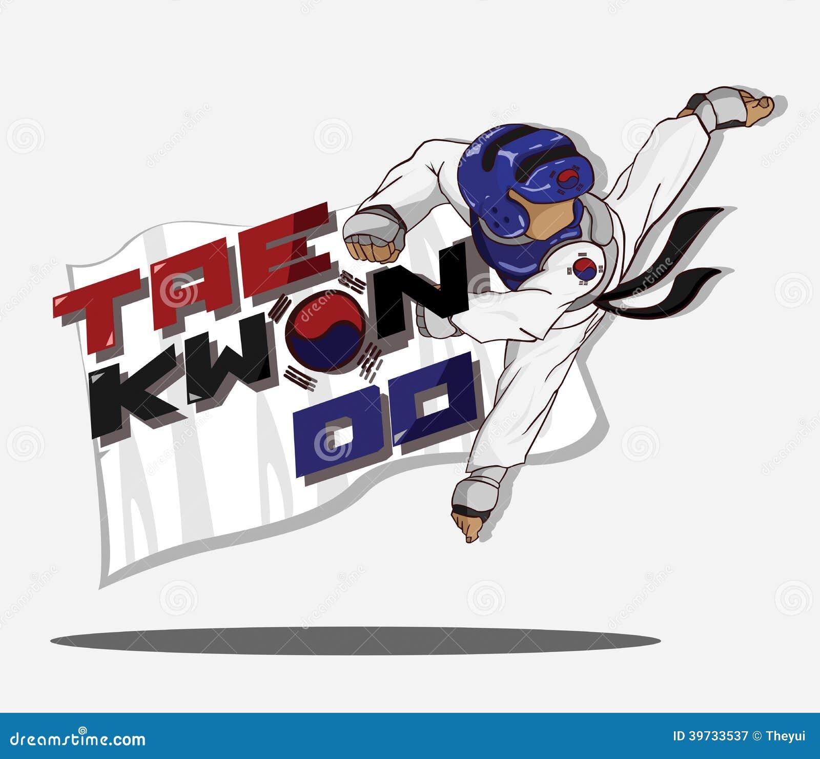 Taekwondo Martial Art Stock Vector Image 39733537