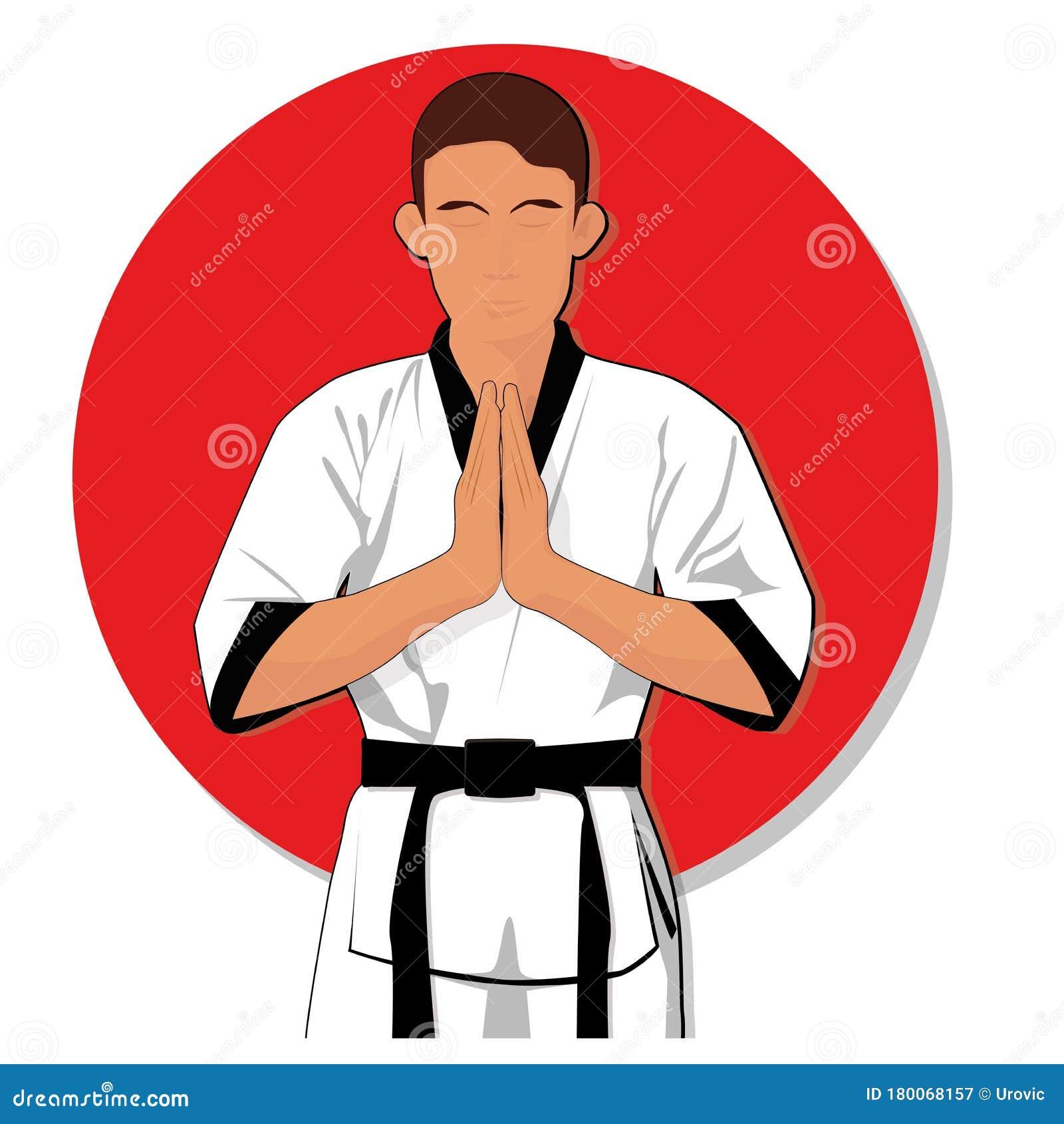 Taekwondo Vector Clipart Cartoon Stock Vector Illustration Of Attack Fighter 180068157