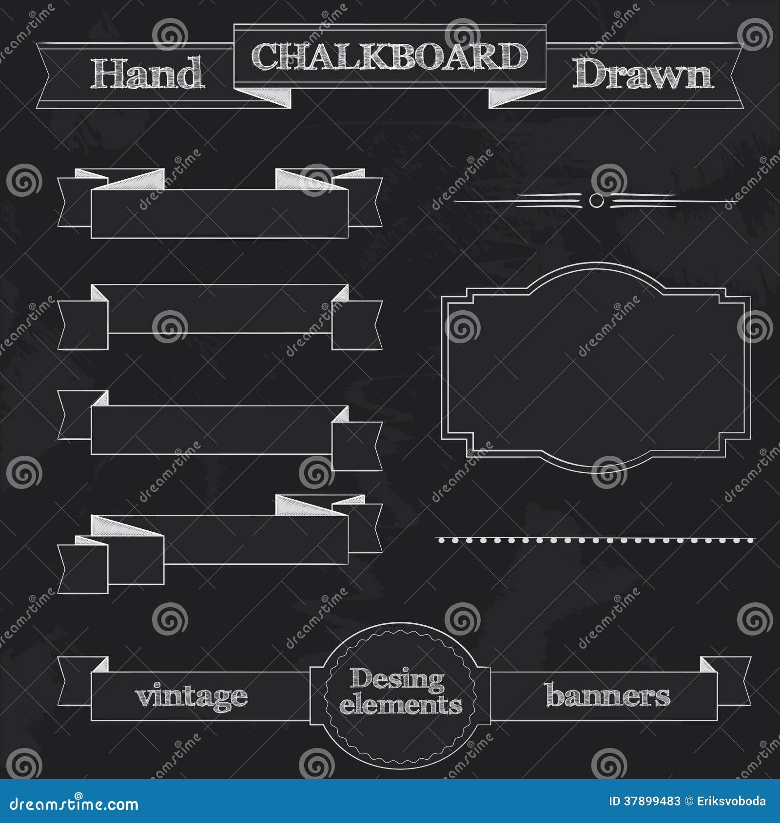 Tafel-Art-Fahnen, Bänder Und Rahmen Vektor Abbildung - Illustration ...