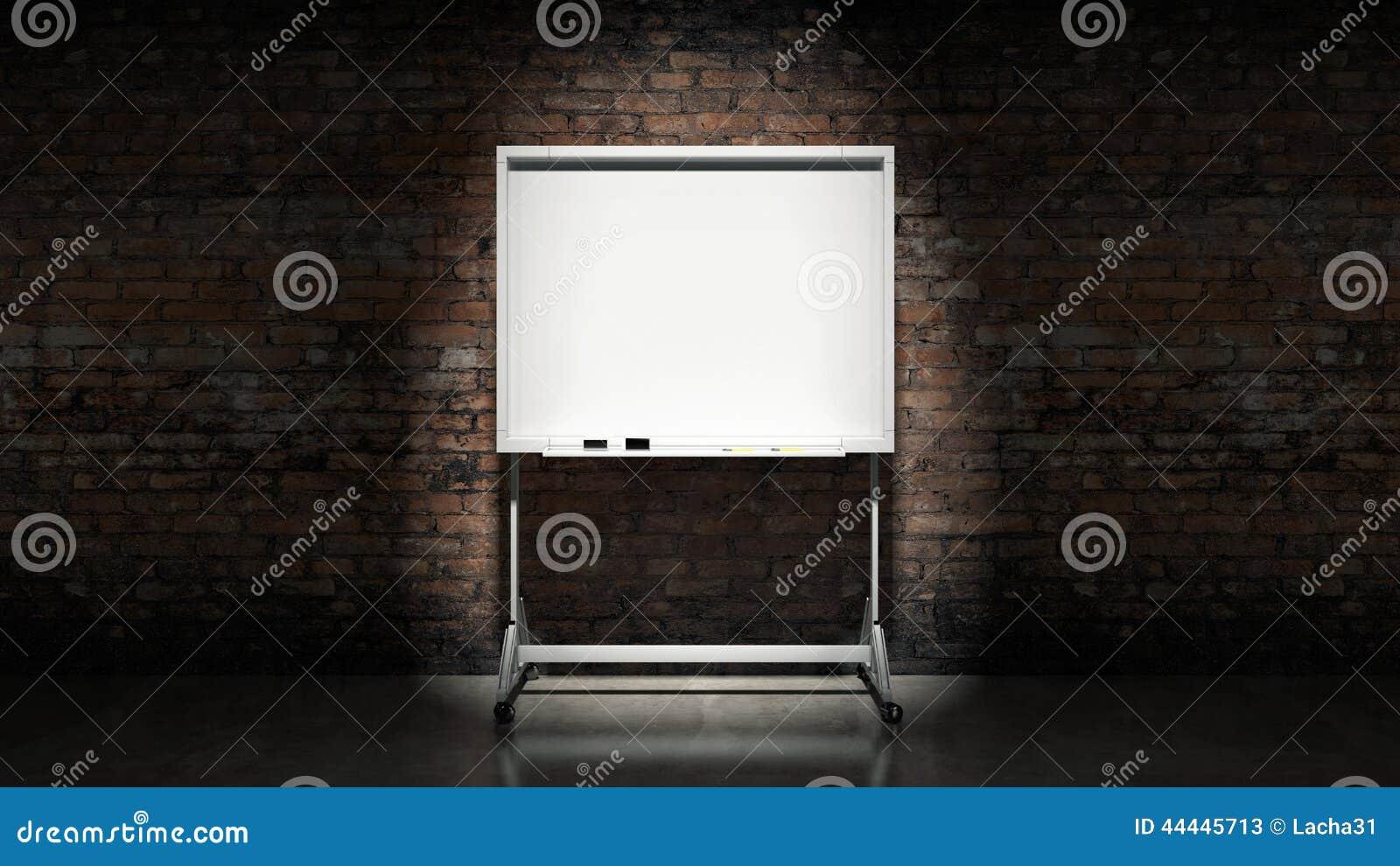 Tafel auf Wand Ziegelstein-Mörserhintergrund