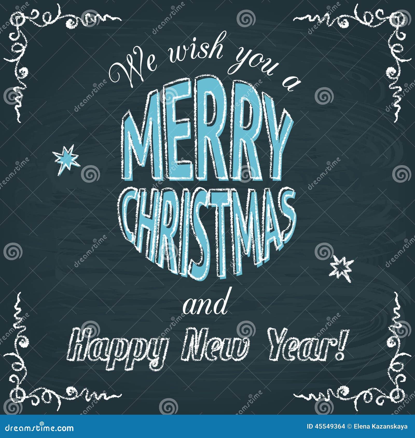Tafel Gru u00dfkarte Der Frohen Weihnachten Vektor Abbildung   Bild  45549364