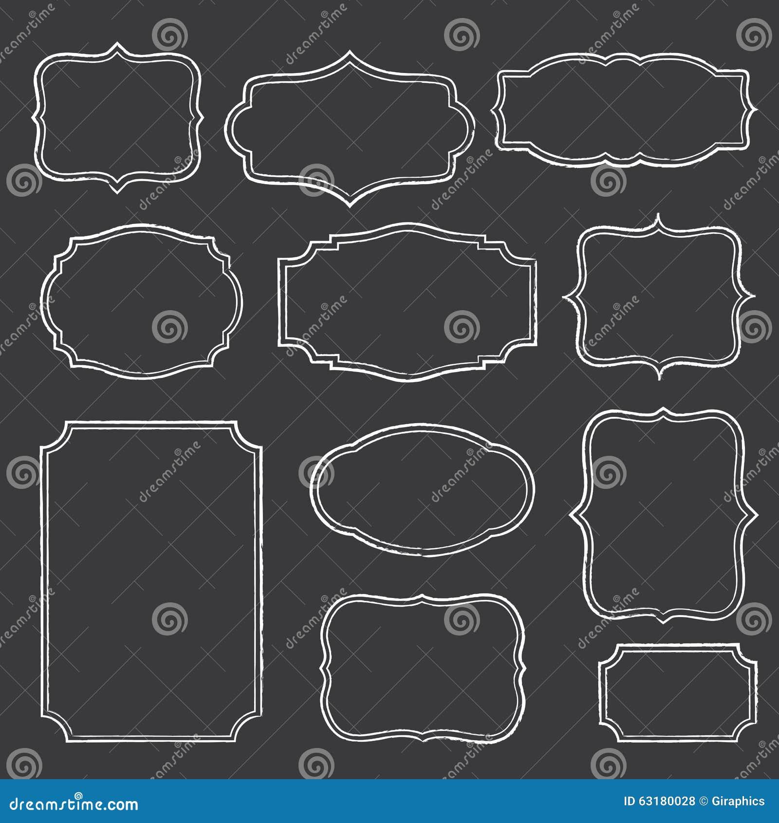 Tafel-Rahmen vektor abbildung. Illustration von ansage - 63180028