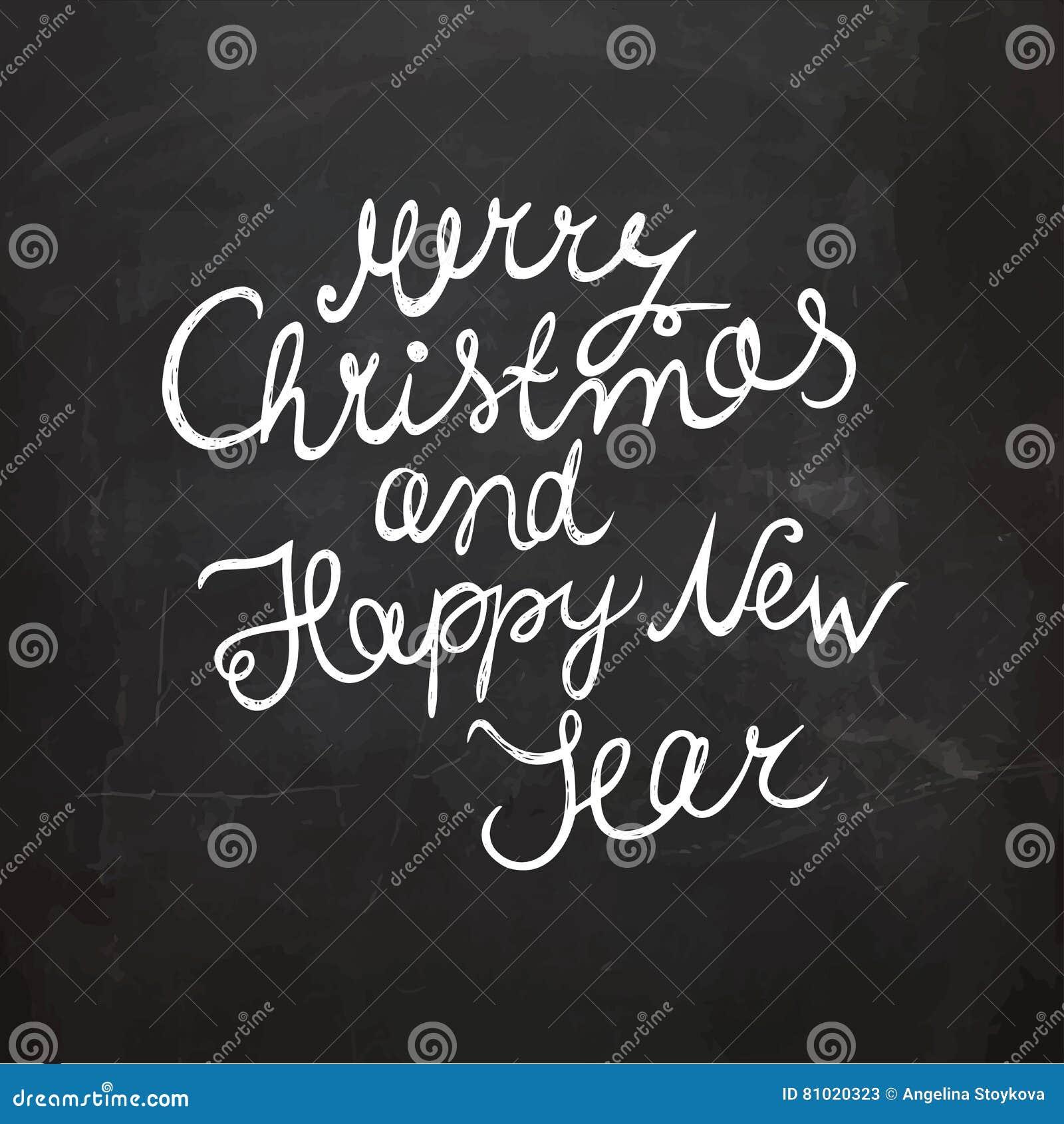Tafel-Weihnachten Und Neues Jahr-Wunsch Handgeschriebene ...