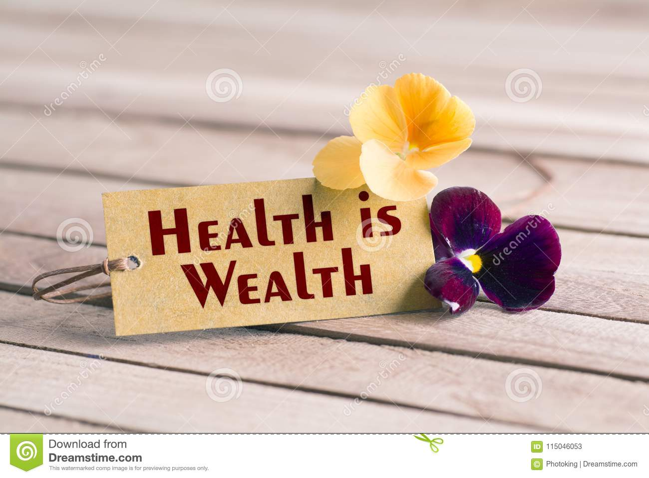 health is wealth tag