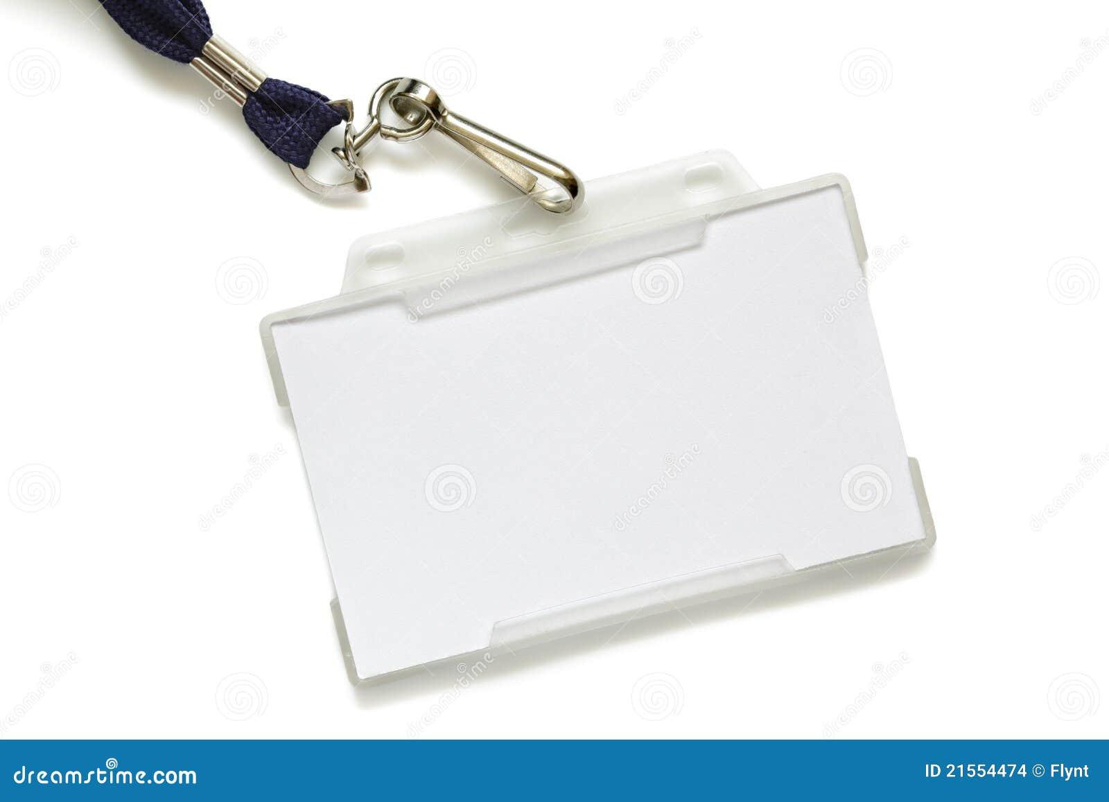 Tag conhecido em branco no colhedor