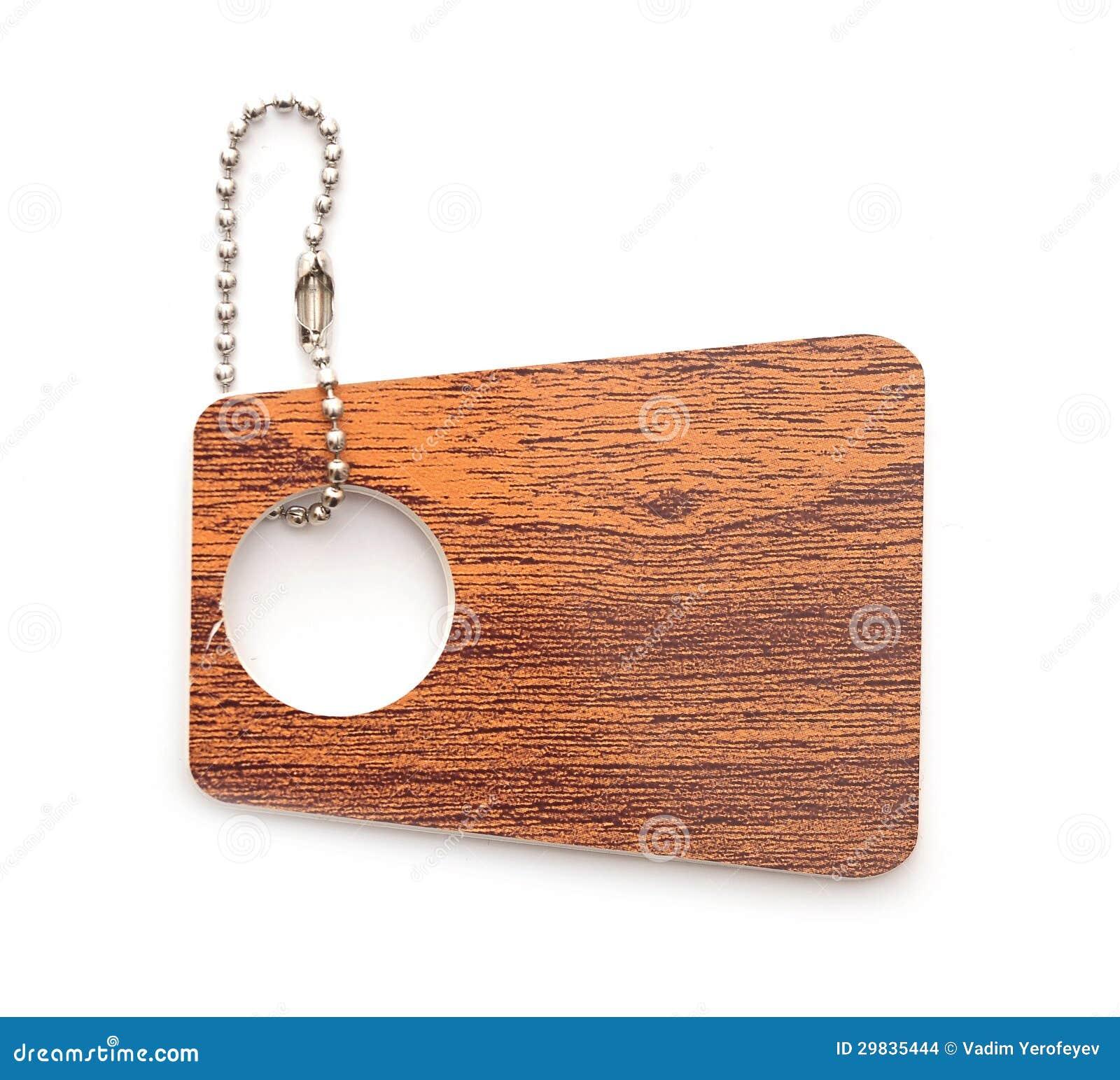 Tag de madeira