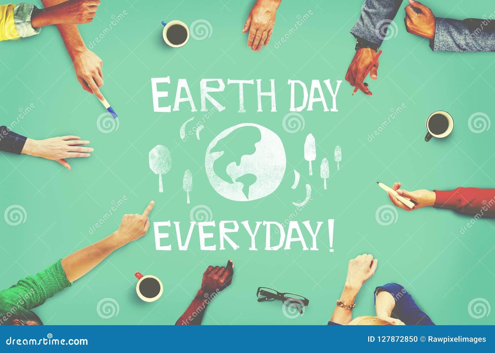 Tag der Erde-Ökologie-Abwehr-Erdkonzept