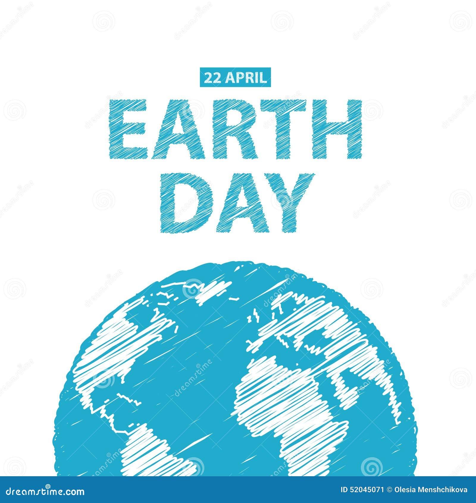 Tag Der Erde In Den Blauen Farben Auch Im Corel Abgehobenen Betrag ...