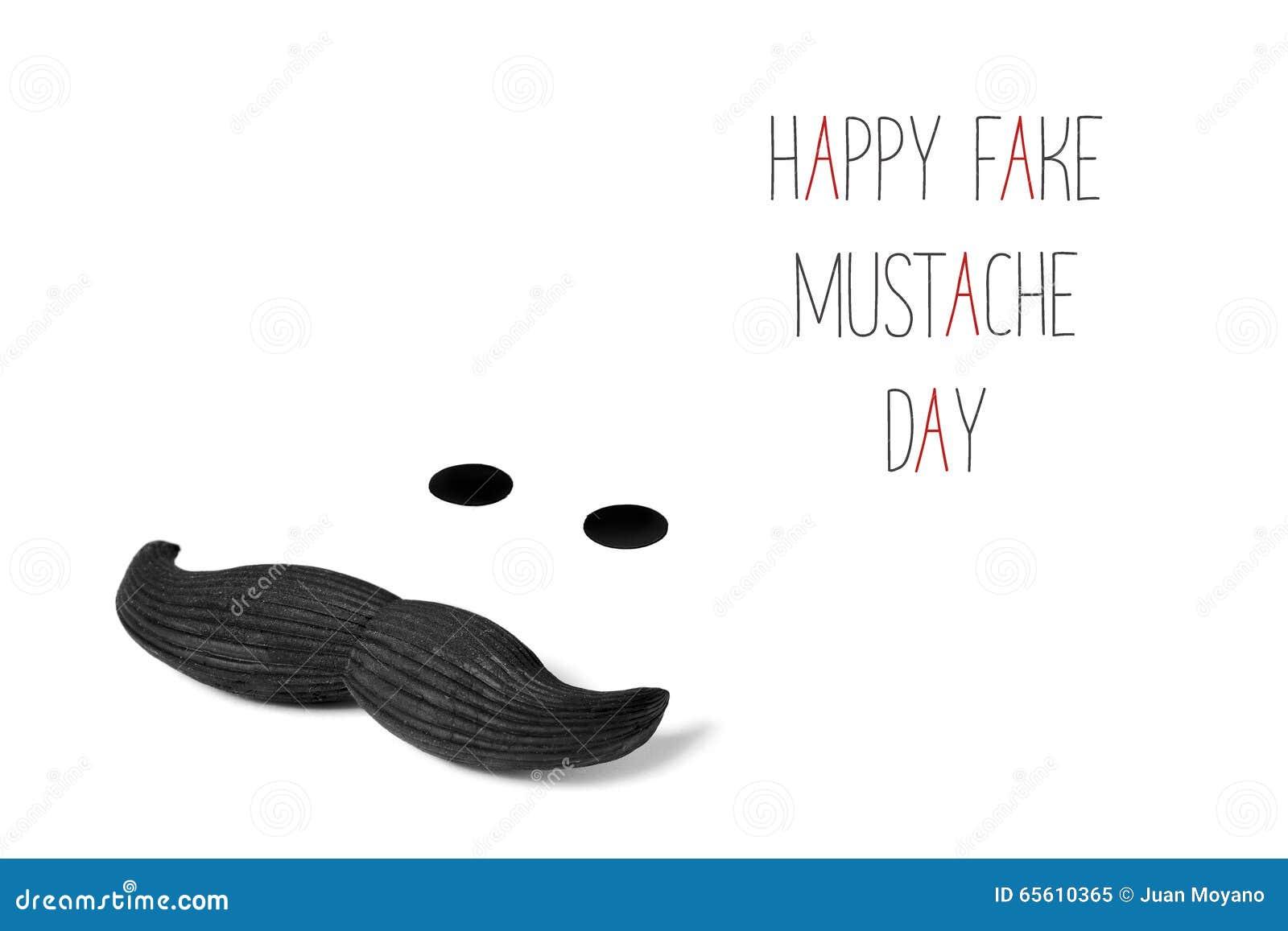 Tag des Schnurrbartes und glücklicher gefälschter des Schnurrbartes des Textes