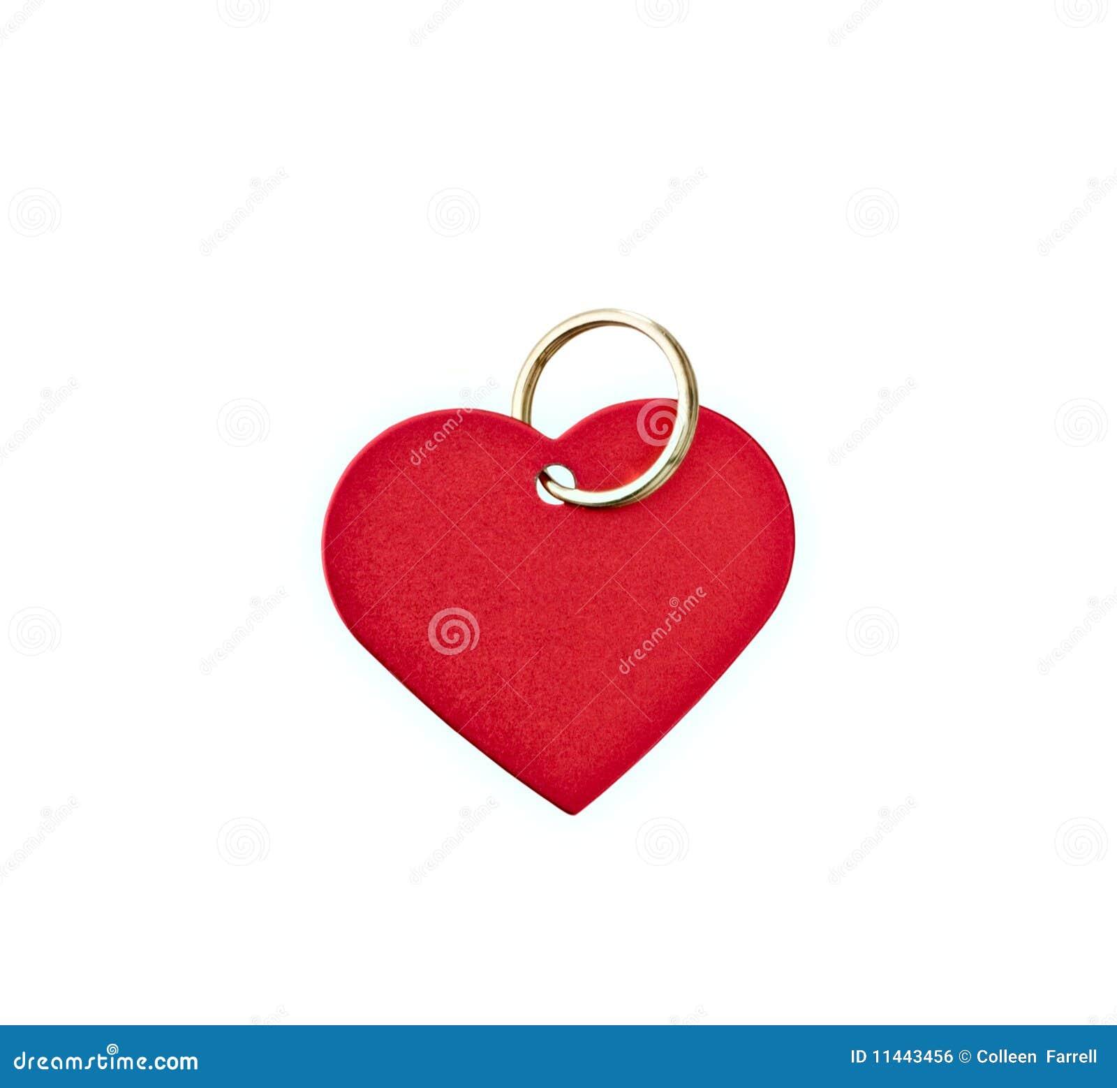 Tag heart-shaped do metal vermelho