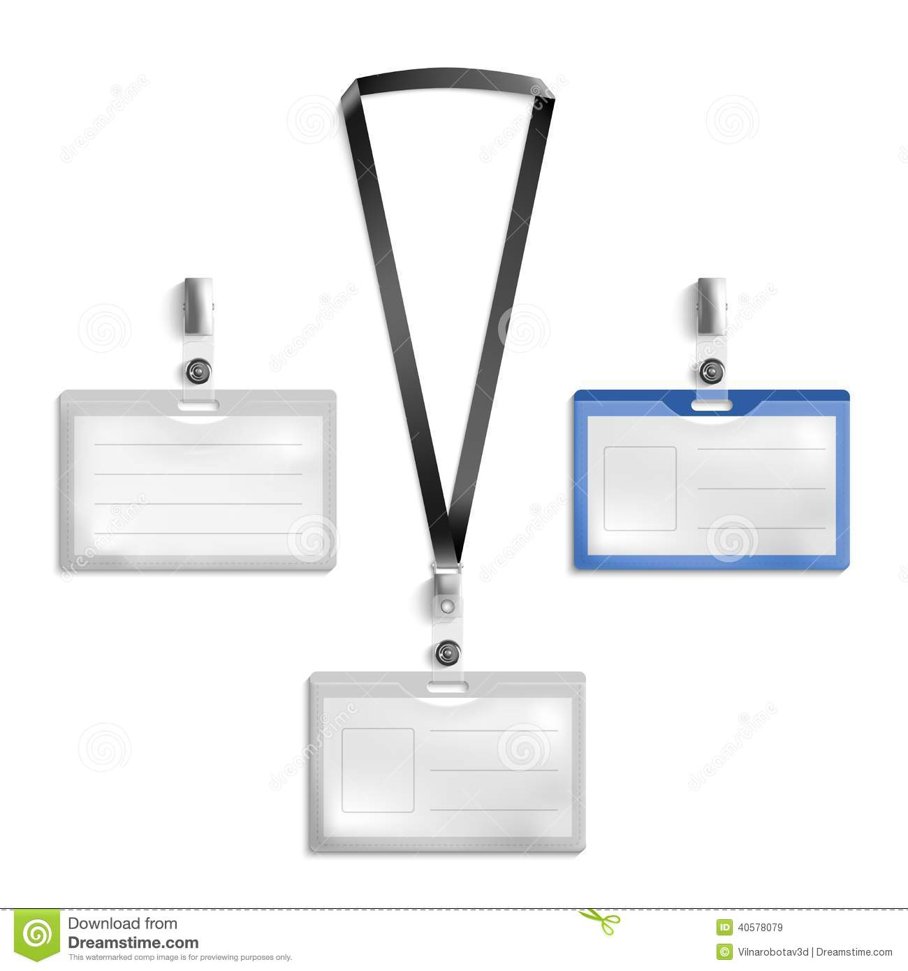 Tag holder stock vector image 40578079 for Id badge template free