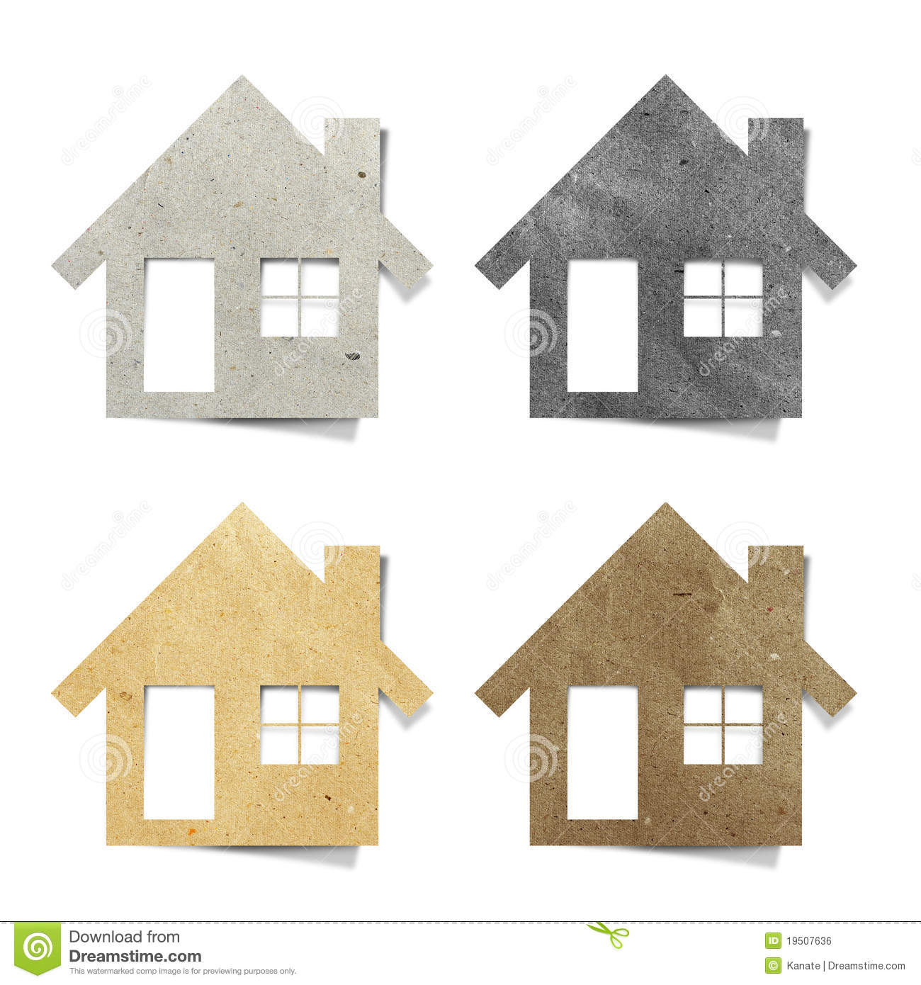 Tag house recycled paper craft stock photo image 19507636 for Free house projects