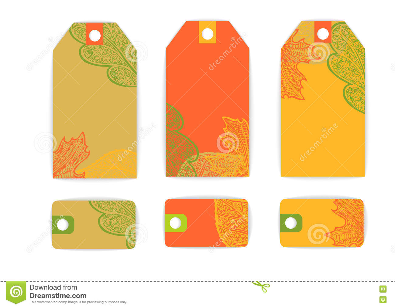 tag label card leaves sale stock illustration illustration of