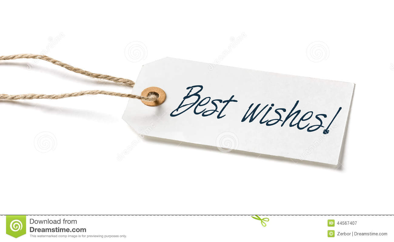 make your wish tag with the text best wishes stock photo image