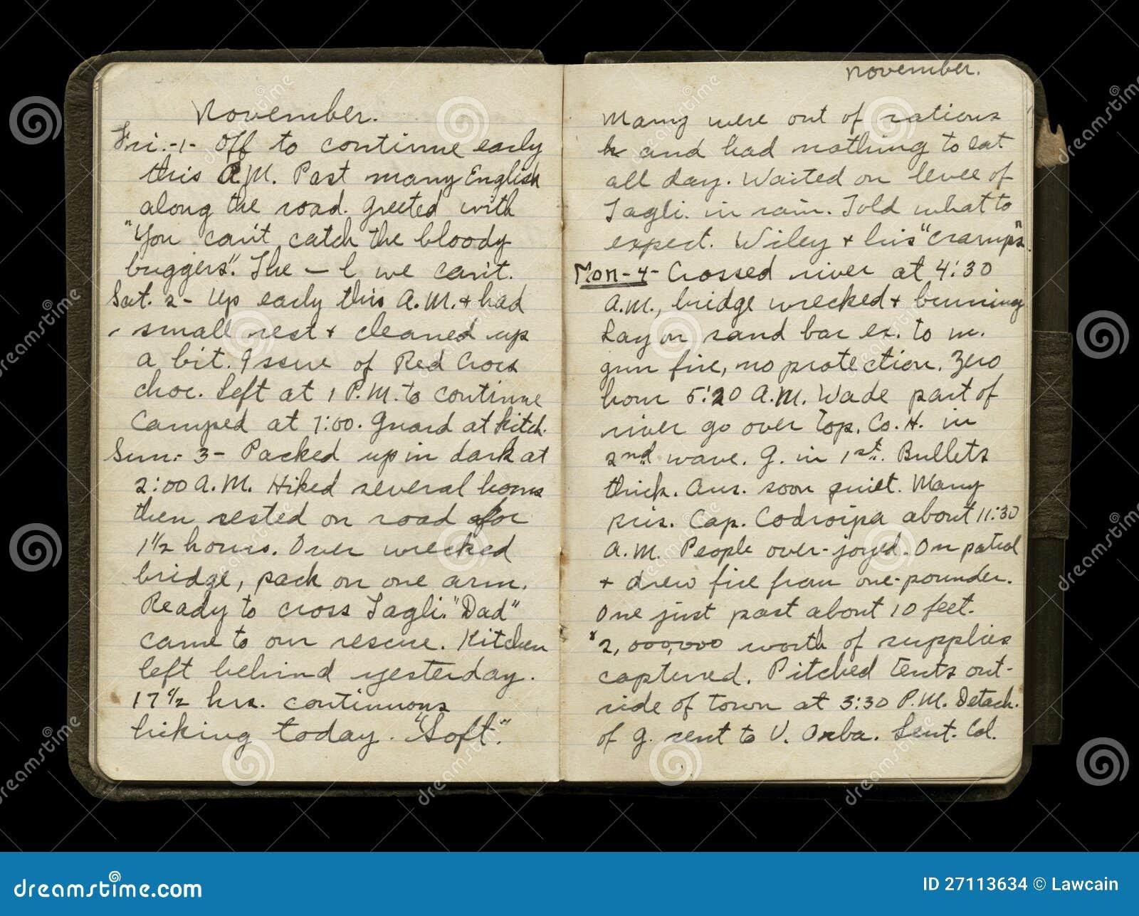 Tagebuch Eines Soldaten Im 2. Weltkrieg