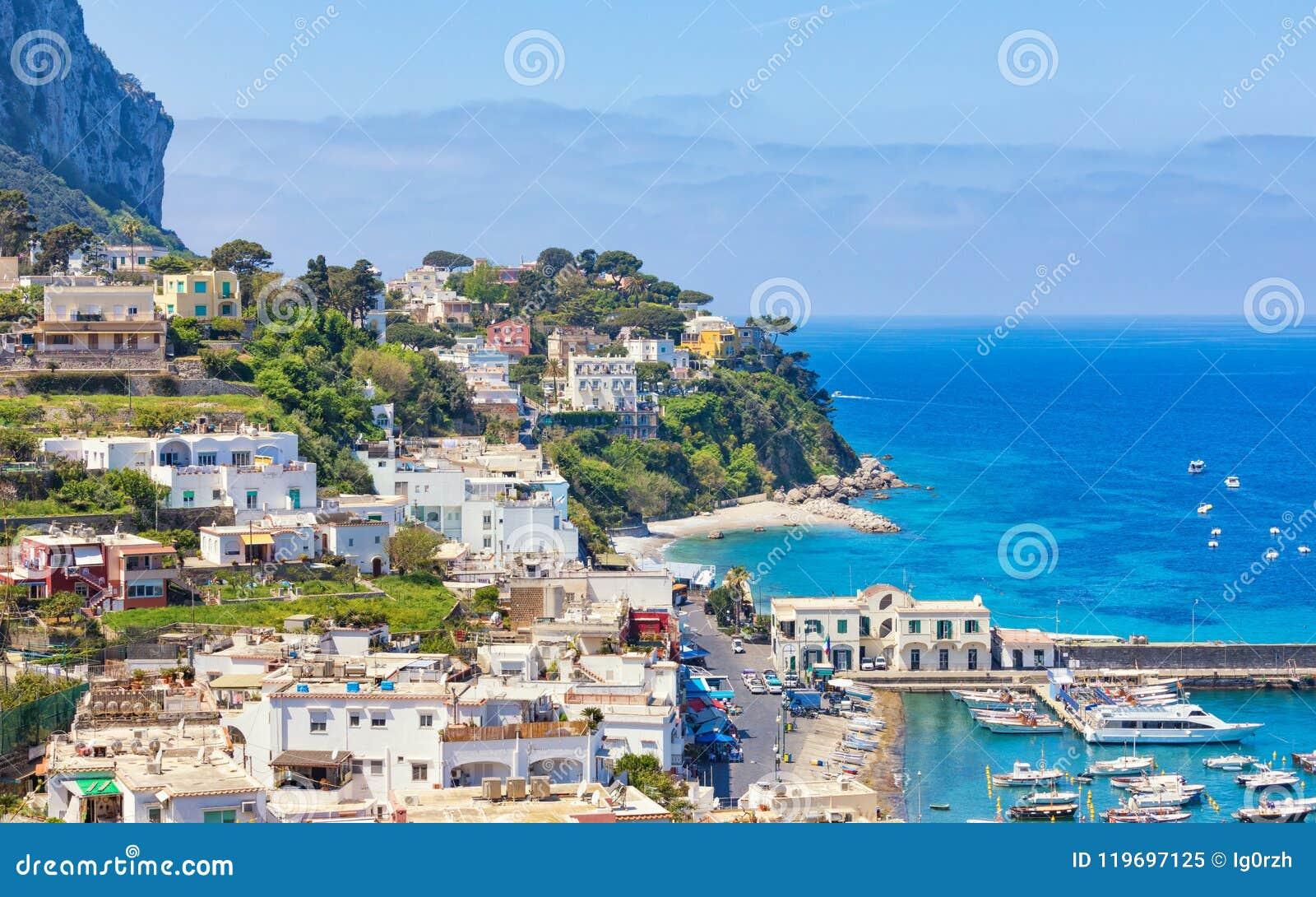 Tageslichtansicht von Marina Grande, Capri-Insel, Italien