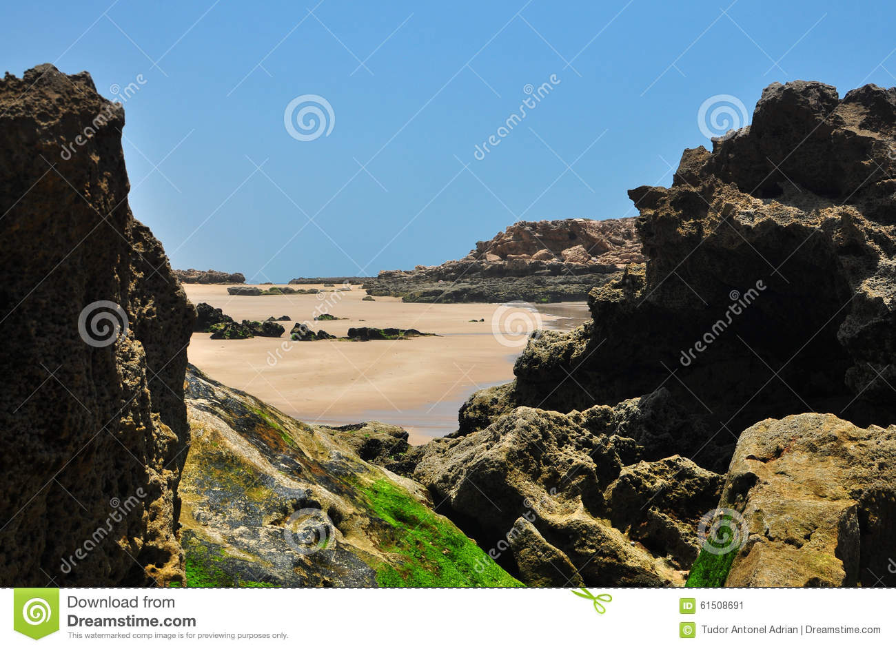 Taghazout beach rocks stock photo image 61508691 for Landscaping rocks east bay