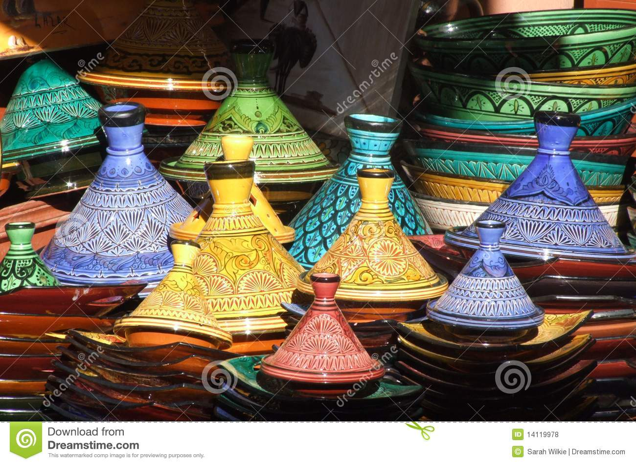 tagine pots marrakesh souk royalty free stock photos. Black Bedroom Furniture Sets. Home Design Ideas