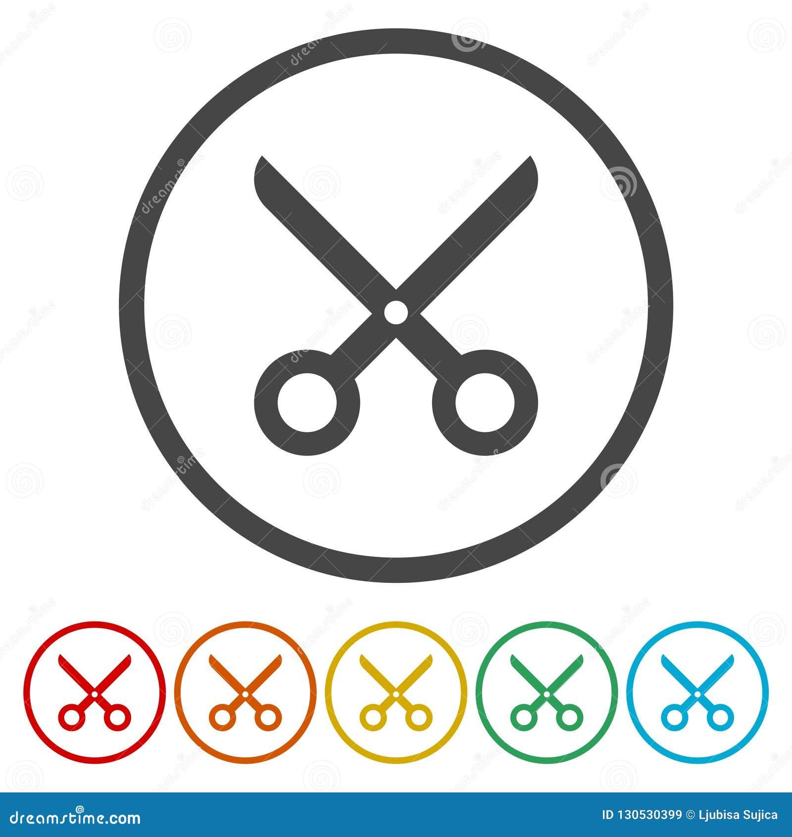 Tagli, forbici, lavagna per appunti o icona di modo