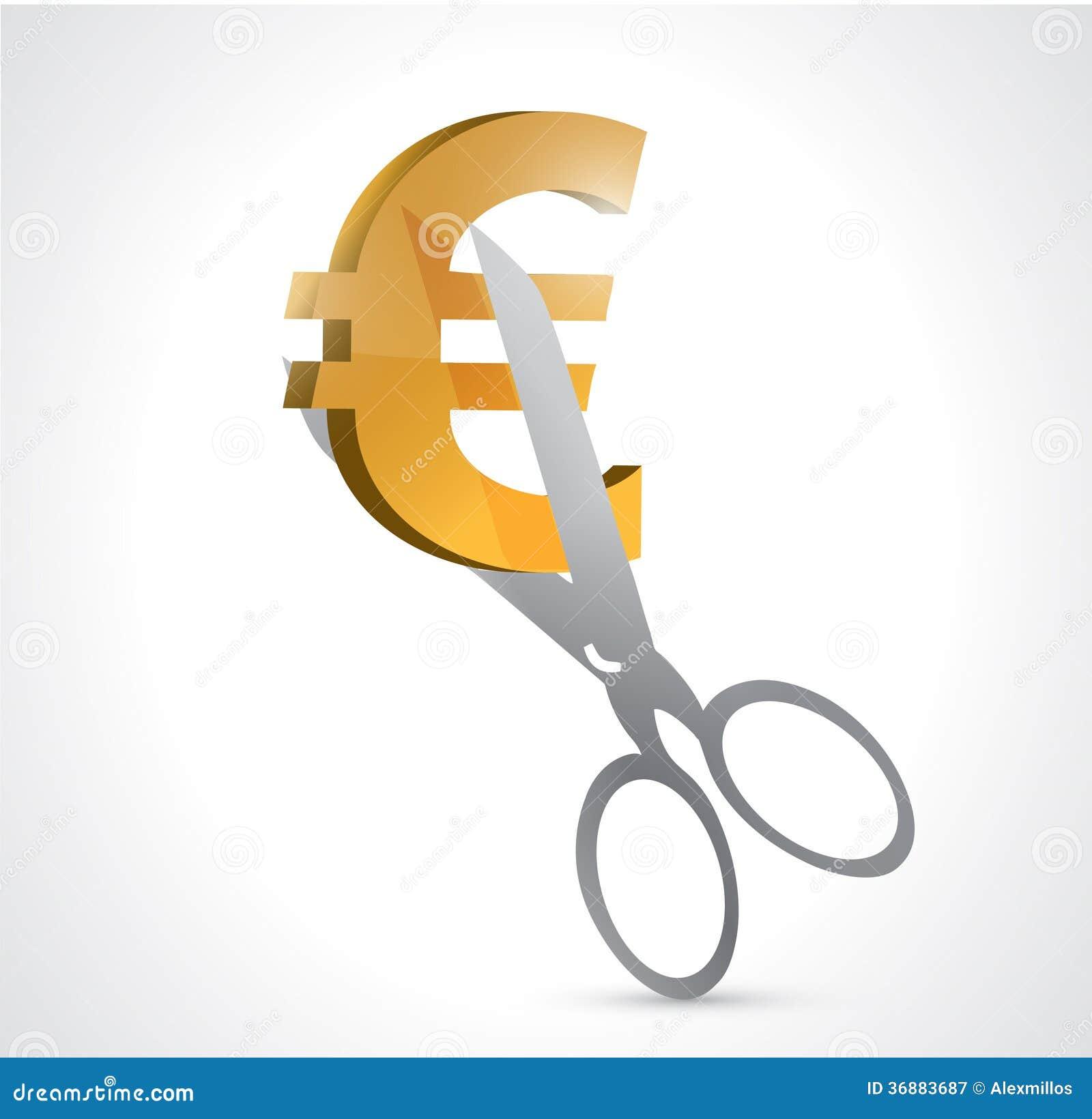 Download Tagli Gli Euro Prezzi Progettazione Dell'illustrazione Di Concetto Illustrazione di Stock - Illustrazione di disperazione, debito: 36883687