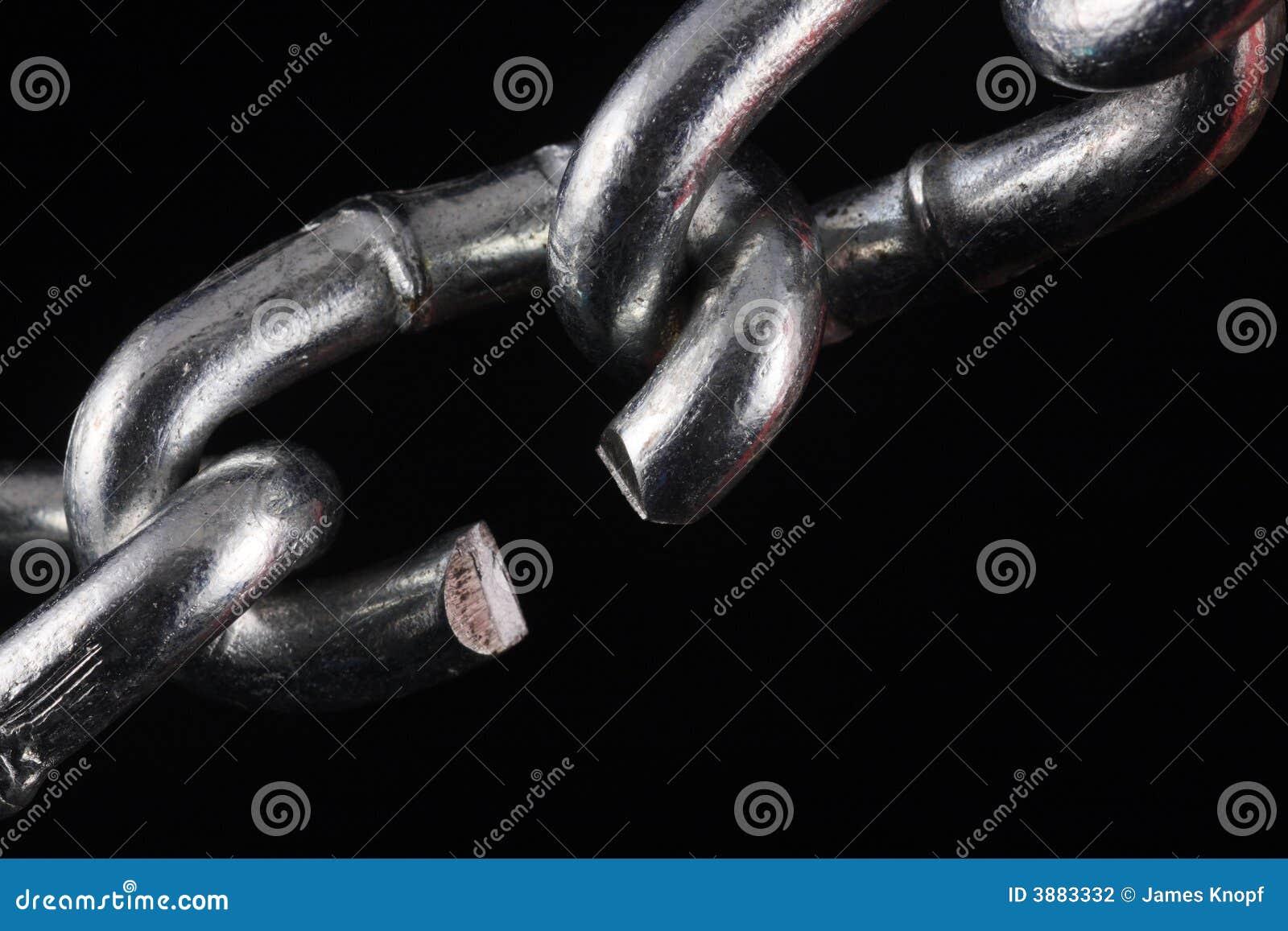 Tagli il collegamento chain sul nero