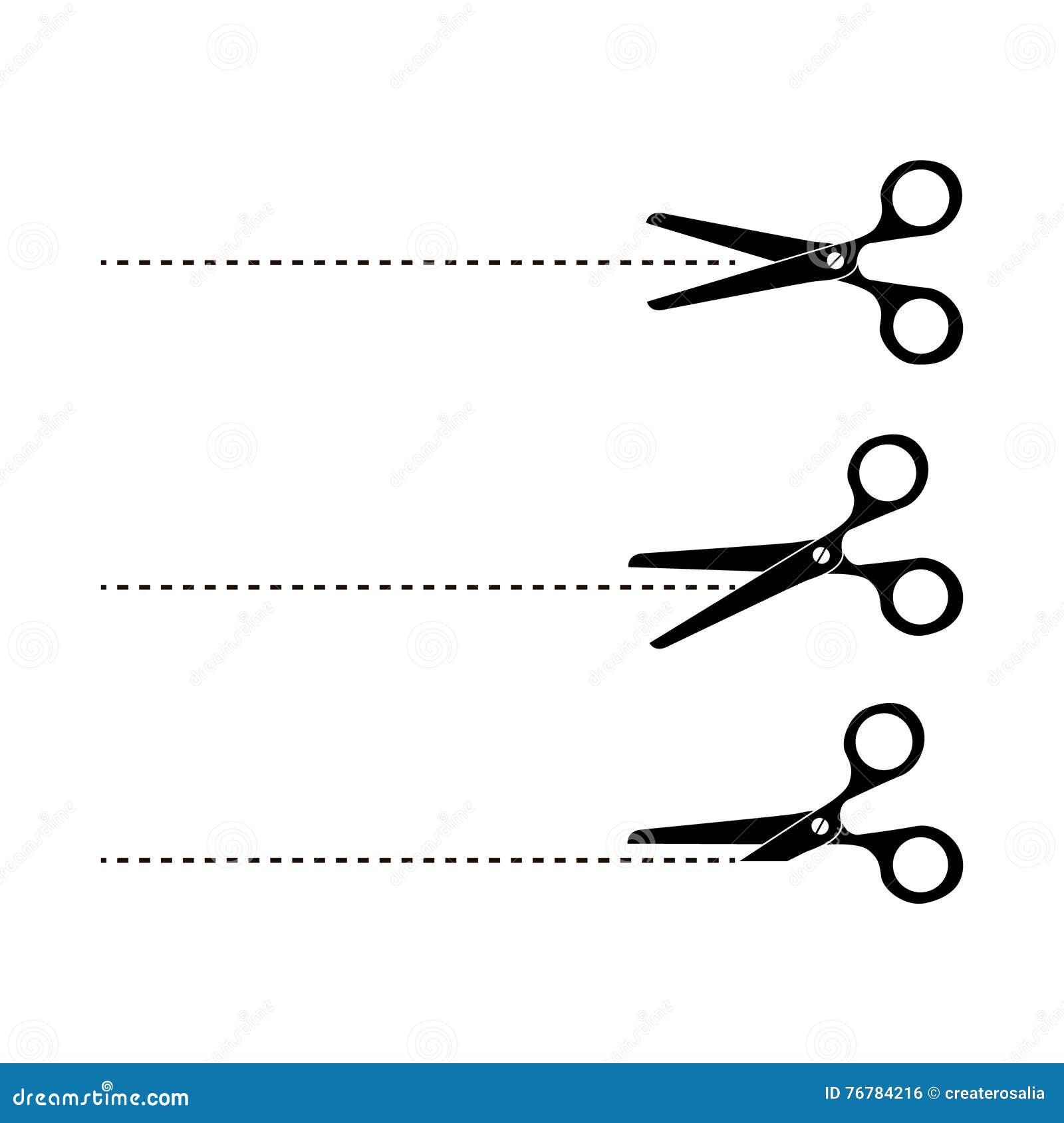 Tagli qui le forbici Illustrazione di vettore