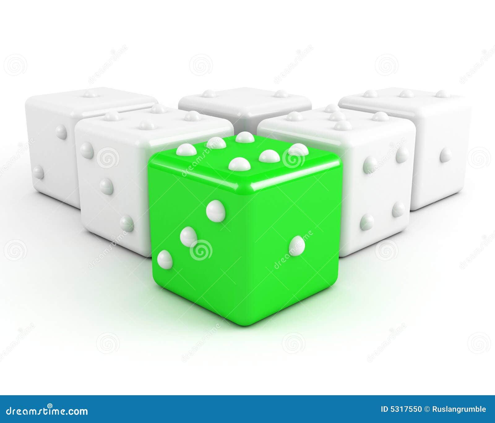 Download Taglia Il Concetto A Cubetti Di Direzione Illustrazione di Stock - Illustrazione di verde, concetto: 5317550
