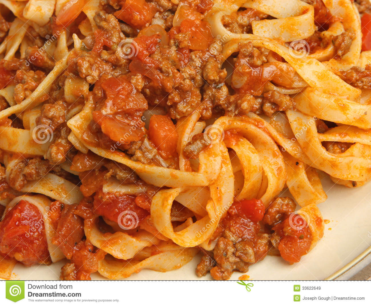 Tagliatelle Pasta With Bolognese Sauce Royalty Free Stock Images ...