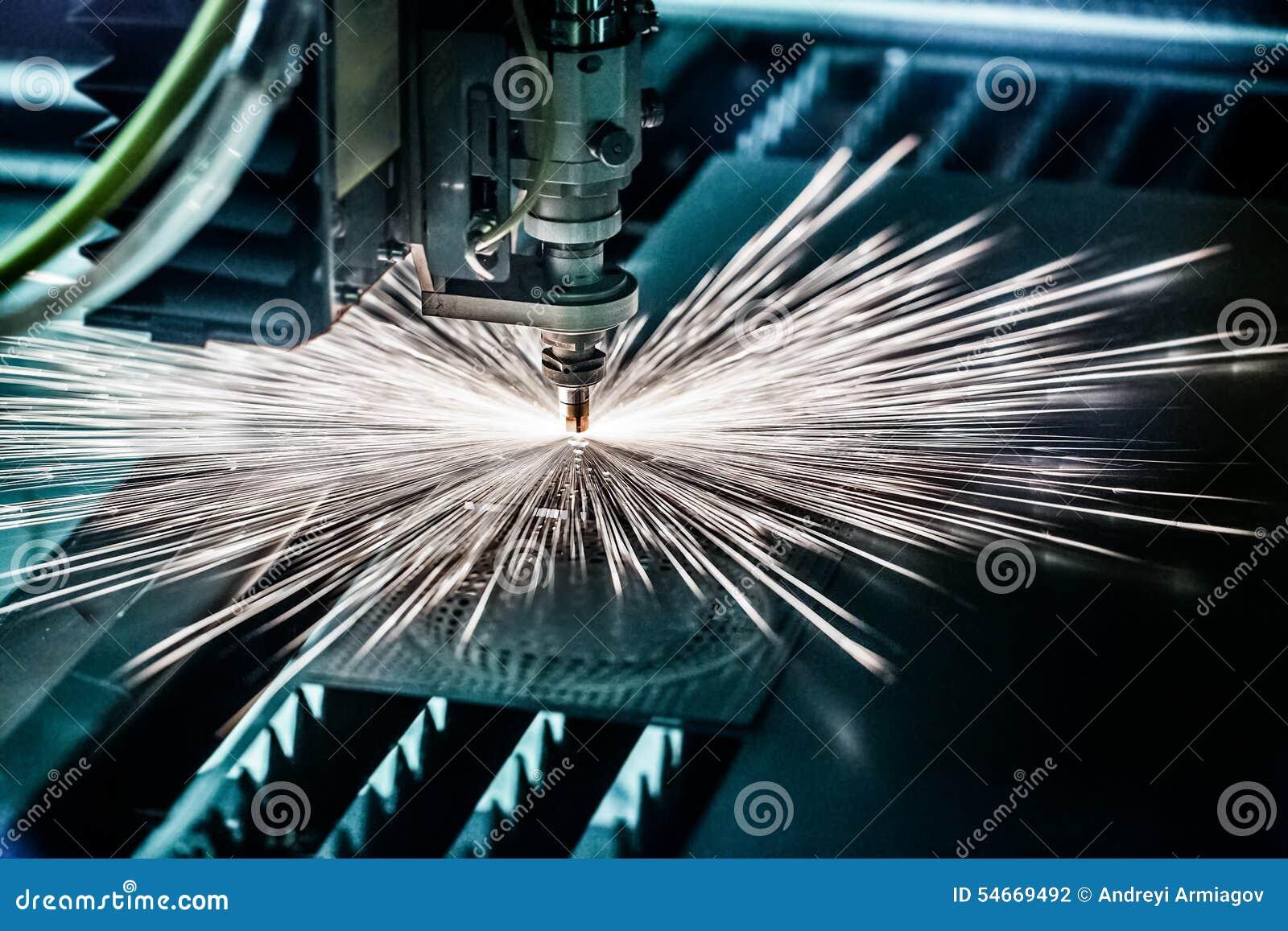 Taglio del metallo, tecnologia industriale moderna del laser di CNC