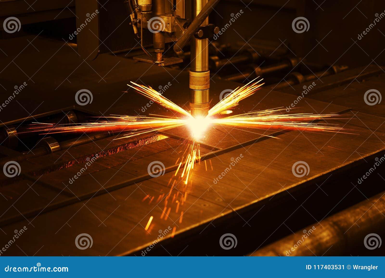 Taglio a macchina del plasma industriale di CNC di di piastra metallica