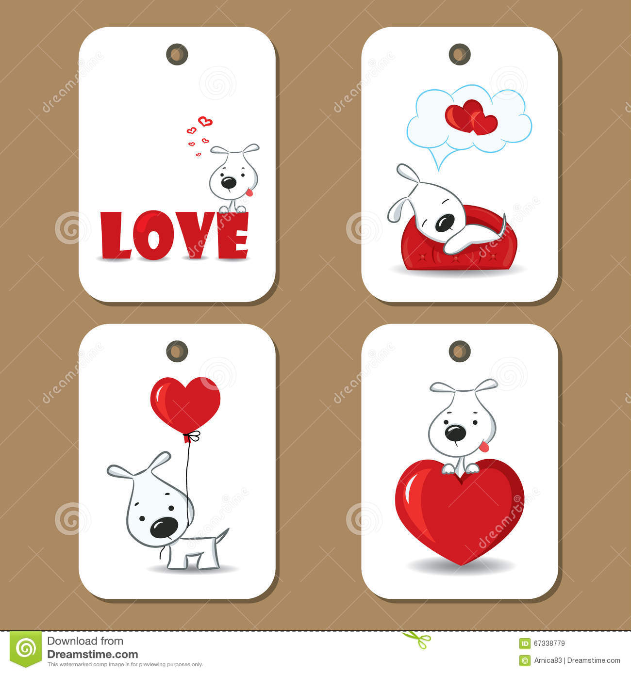 Cute Gift Tags Love Cartoon Vector Cartoondealer Com