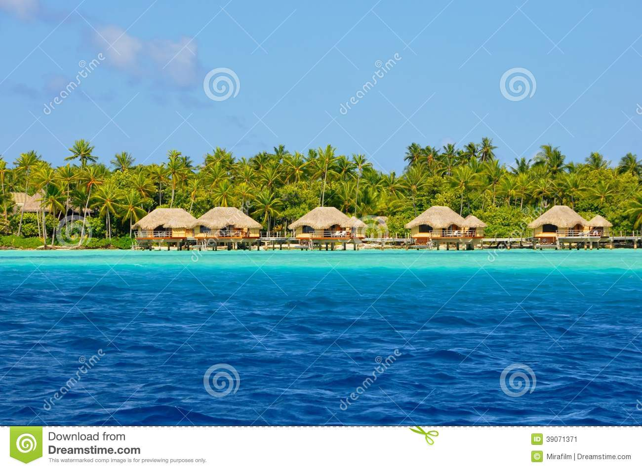 Tahaa French Polynesia  city photo : Over water Bungalows at Beautiful island of tahaa, french polynesia.