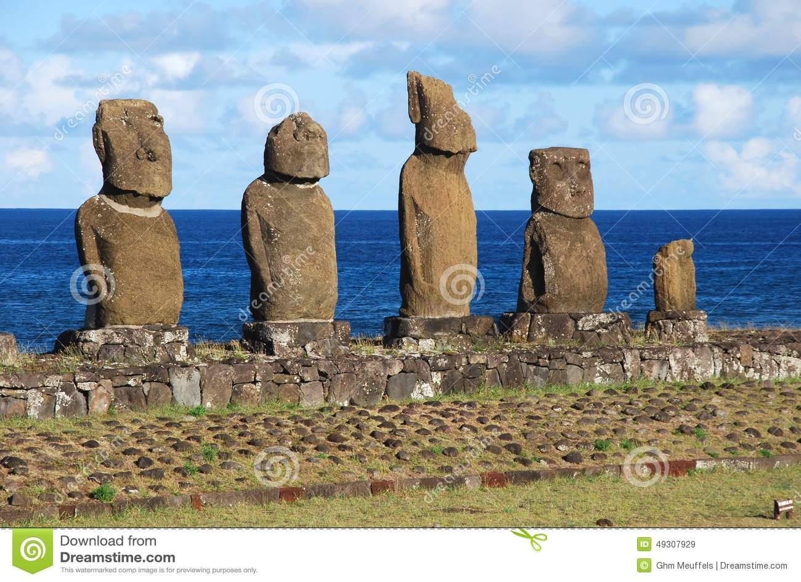 Tahai礼仪复杂考古学站点Rapa Nui -复活节岛