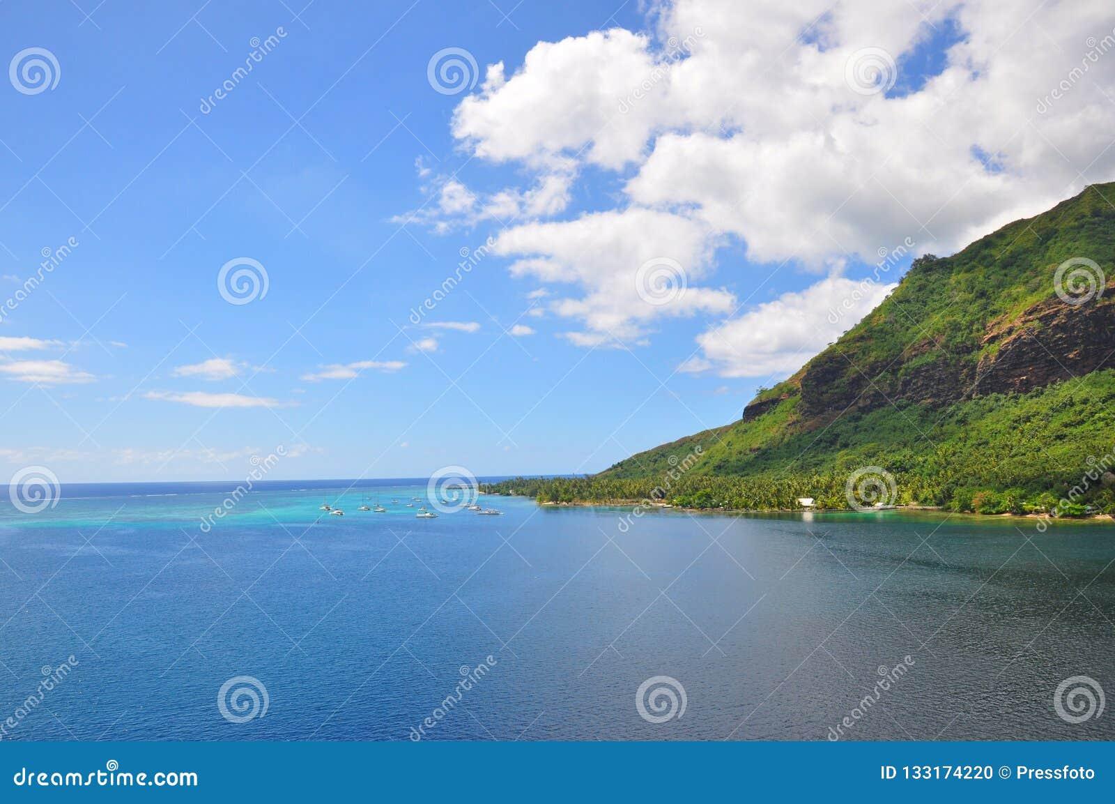 Tahiti-Inseln gestalten landschaftlich