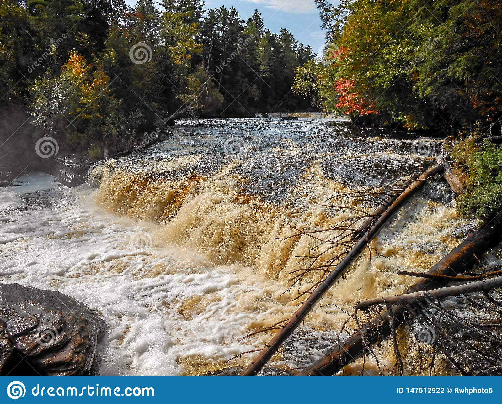 Tahquamenon Falls in the UP of Michigan