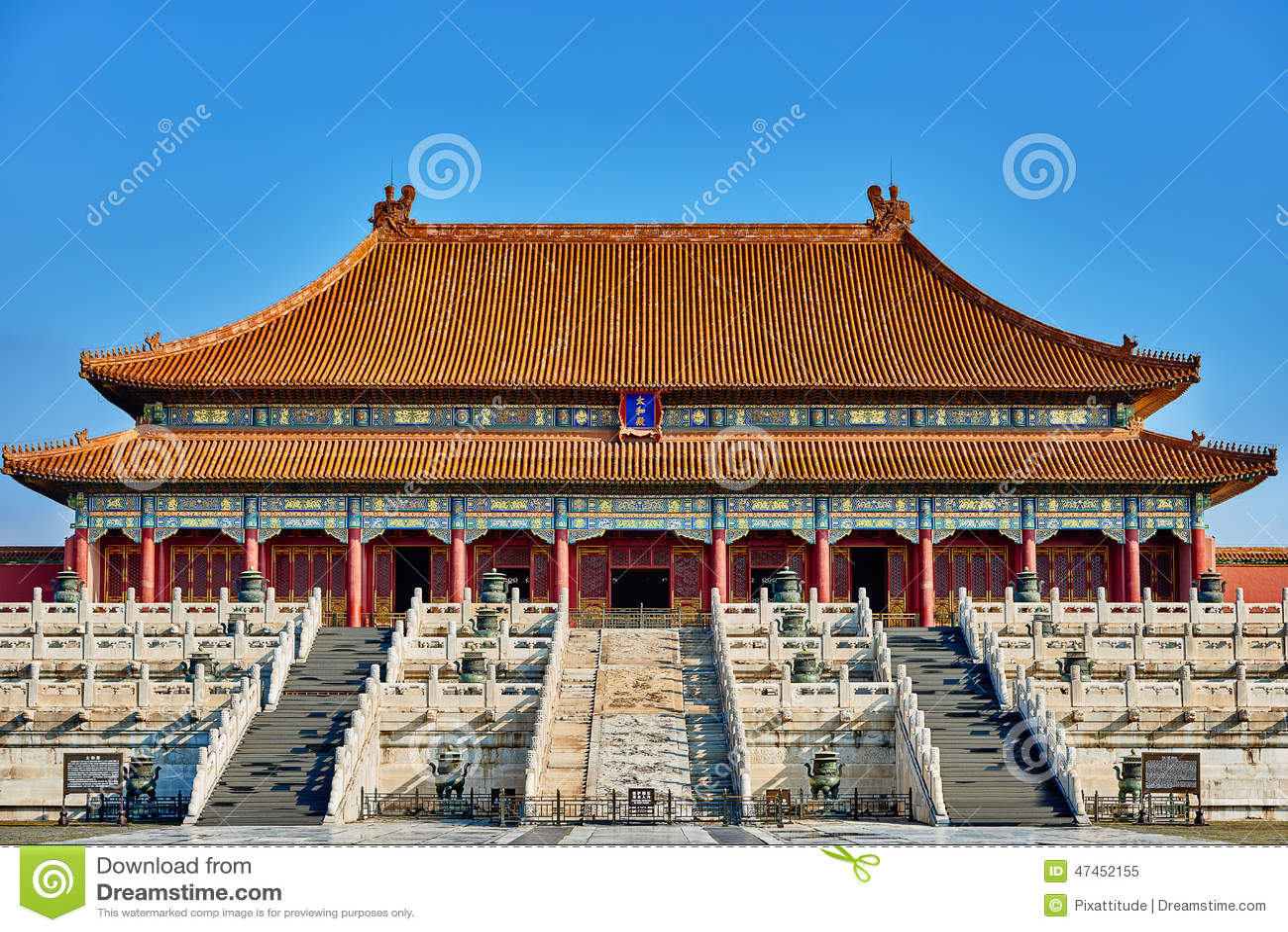 Taihedian hem av suveräna Harmony Imperial Palace Forbidden City