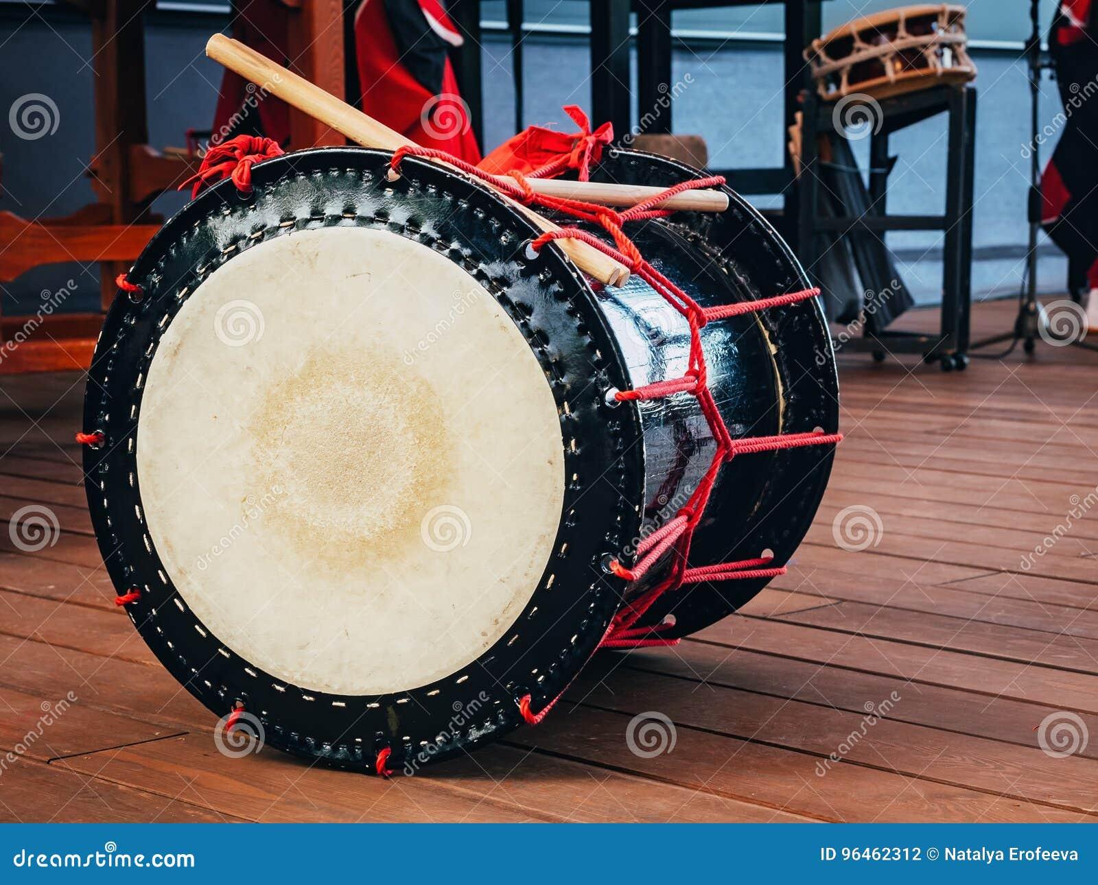 Taiko trummar nolla-kedo på platsbakgrund Kultur av Asien Korea, Japan, Kina