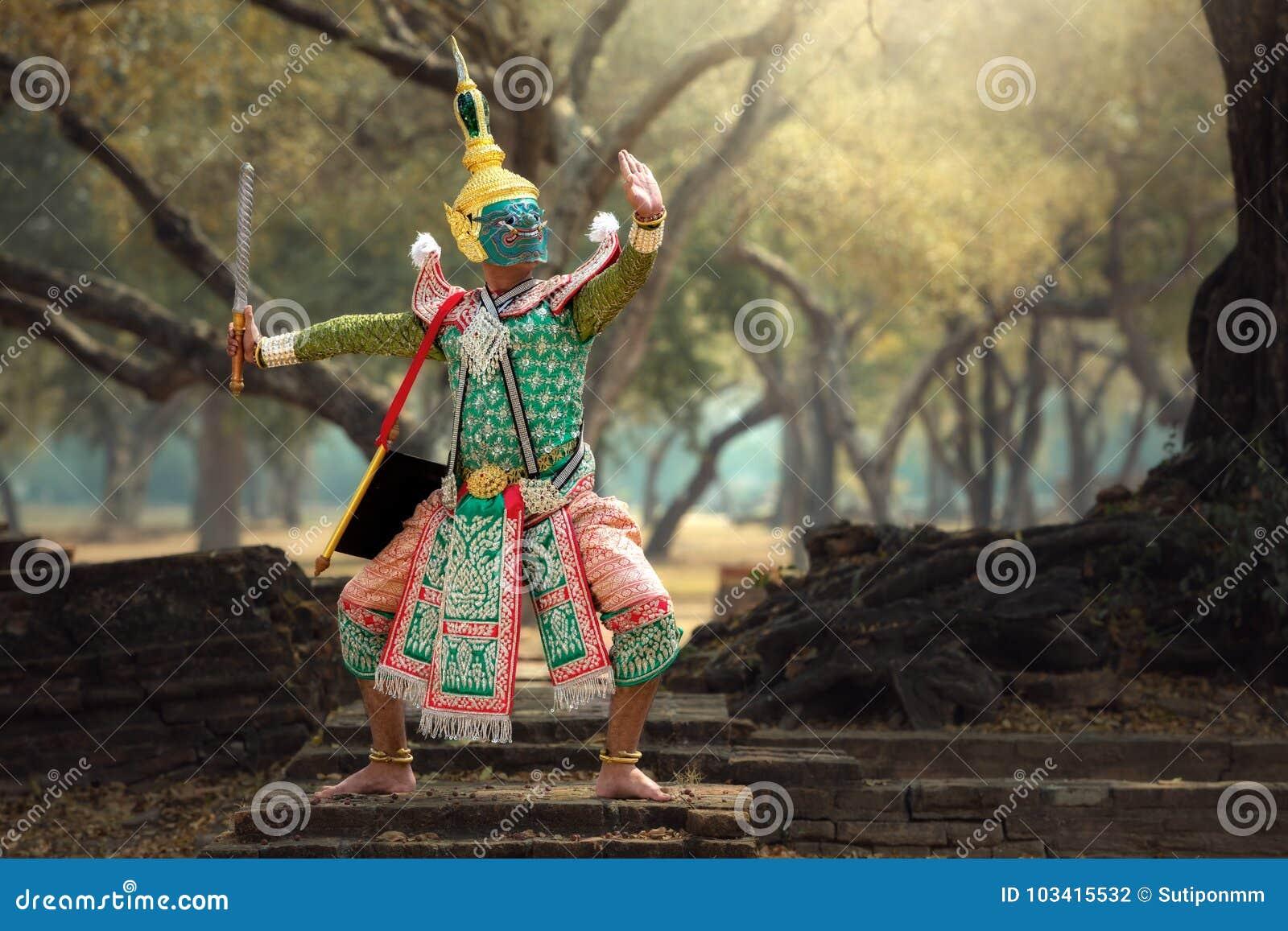 Tailândia a cultura Khon da arte