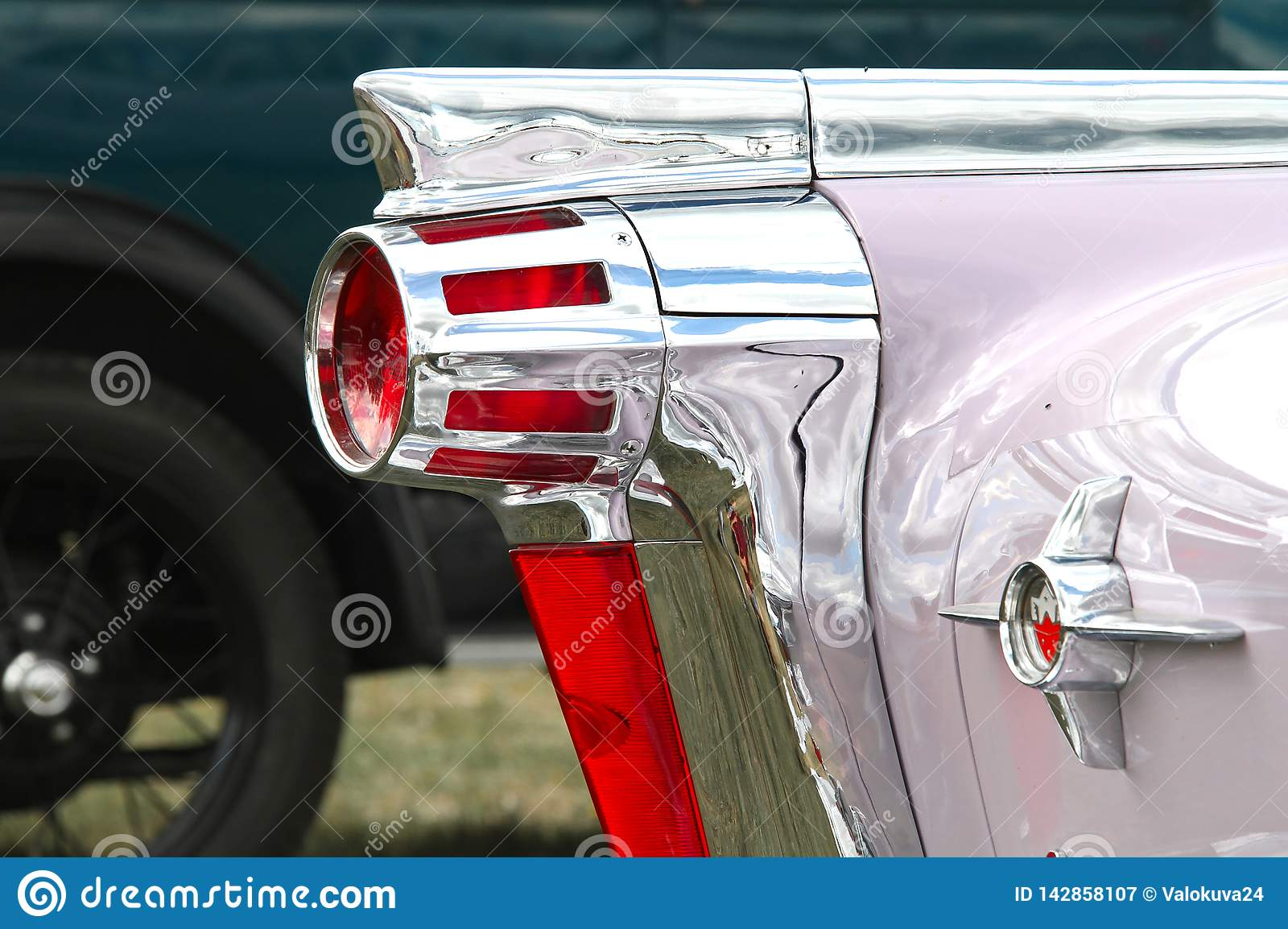 Tail light of Oldsmobile stock image  Image of hobby - 142858107