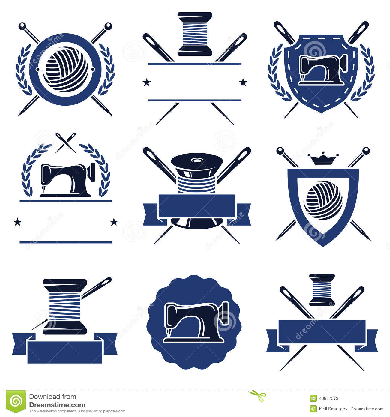 Tailor Labels Set. Vector Stock Vector