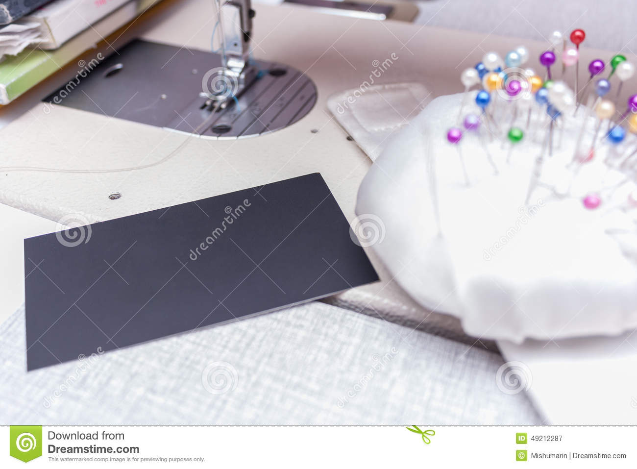 Tailor/ Seamstress Business Card Stock Image - Image: 49212287