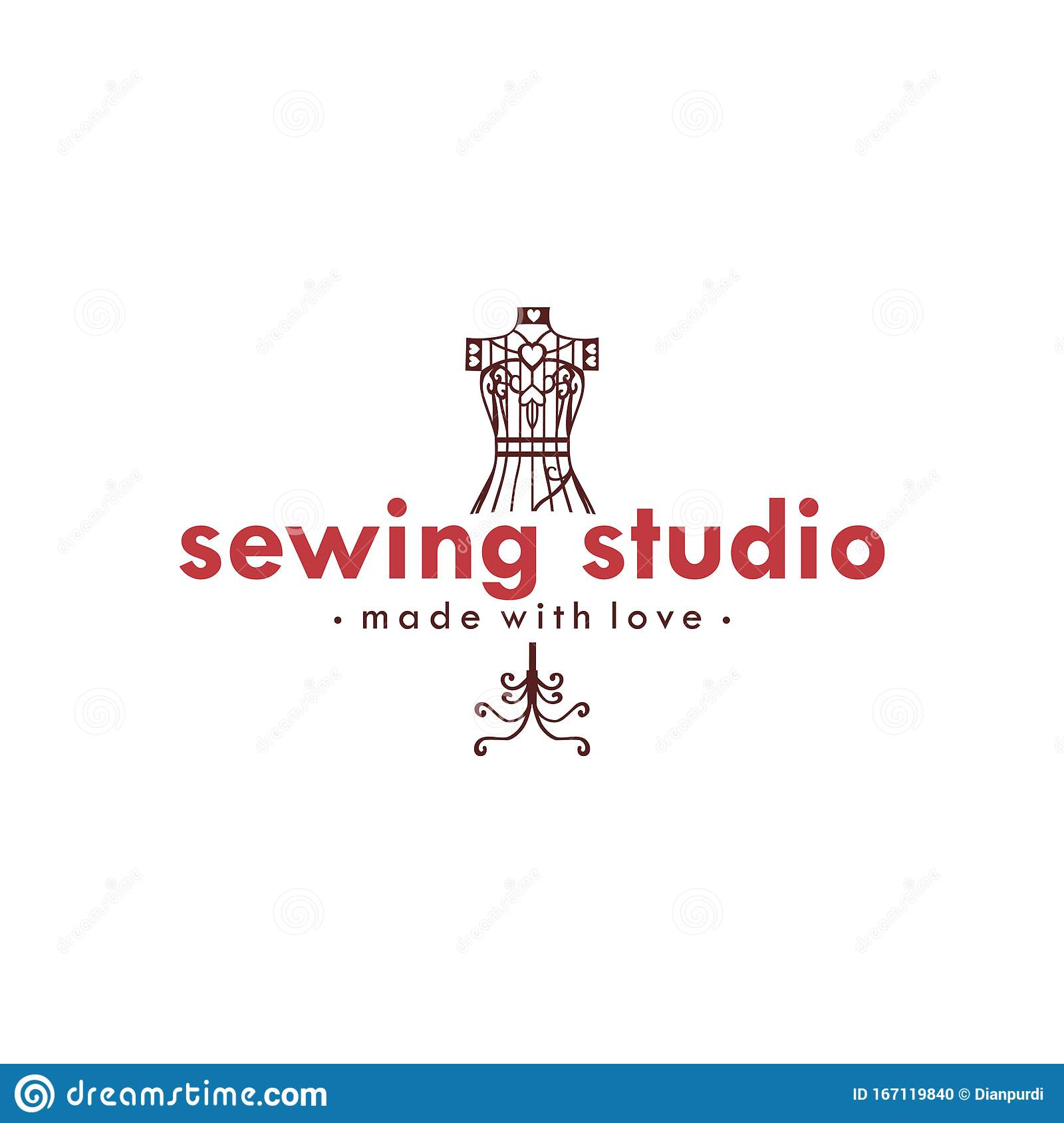 Tailor Sewing Vintage Logo Ideas, Mannequin Sewing Logo ...