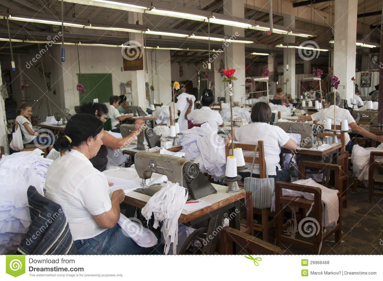 tailoring workshop in cuba editorial stock photo image