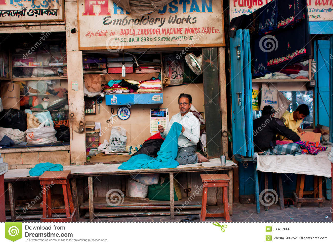 Tailors Works In Small Workshops In The Street In