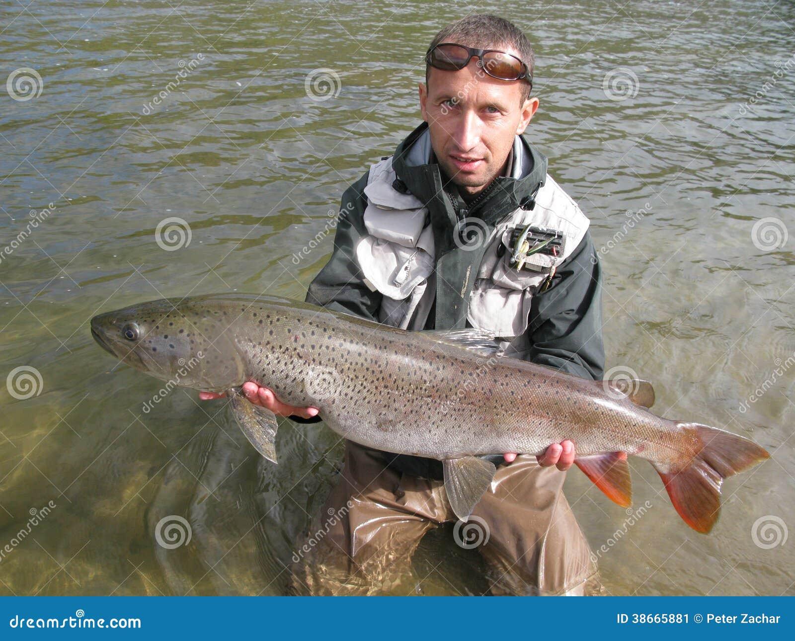 Taimen fishing stock image image 38665881 for Taimen fishing mongolia