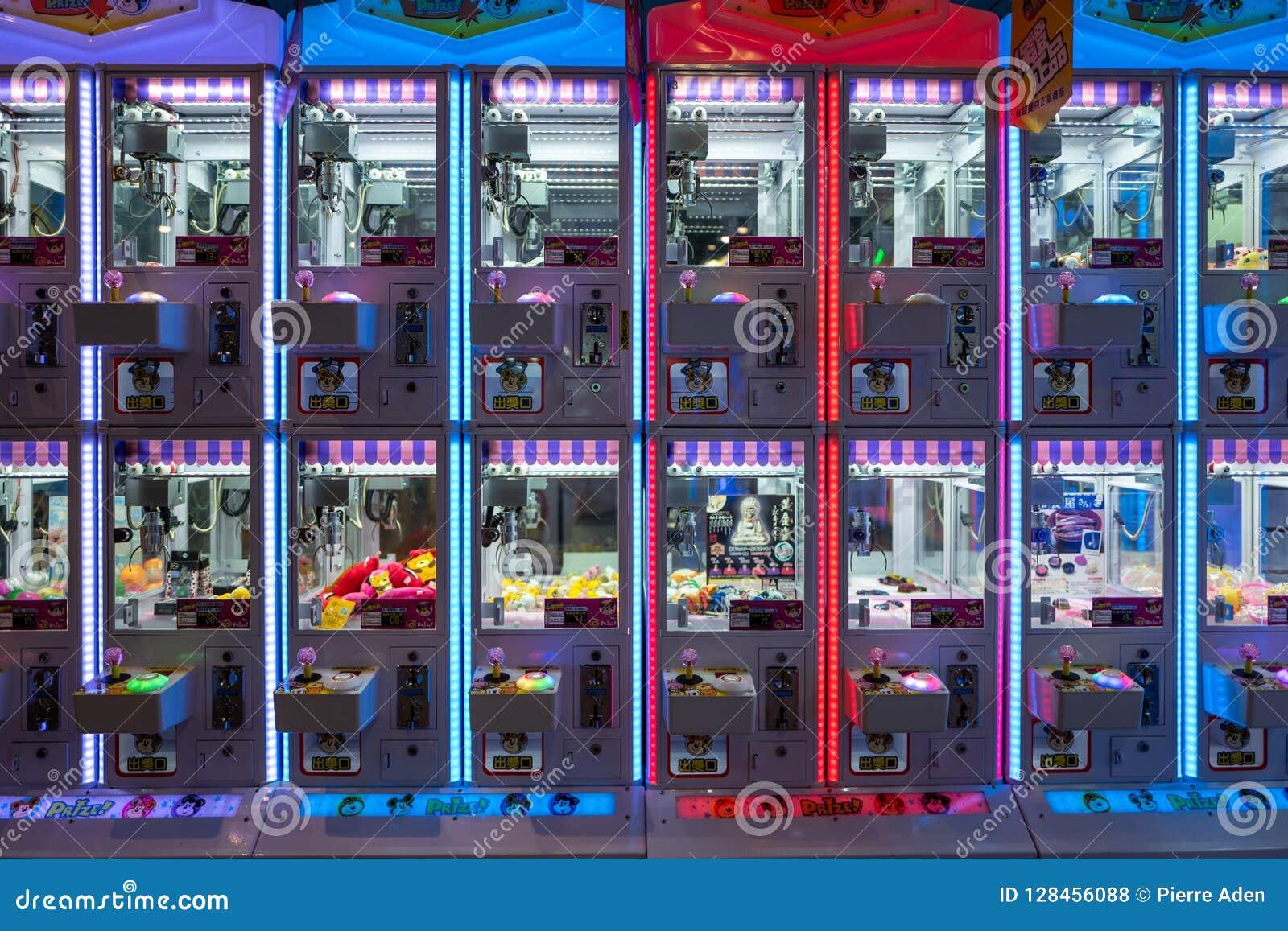 Tainan, Taïwan - 25 septembre 2018 : Machines de jeu en parc d attractions