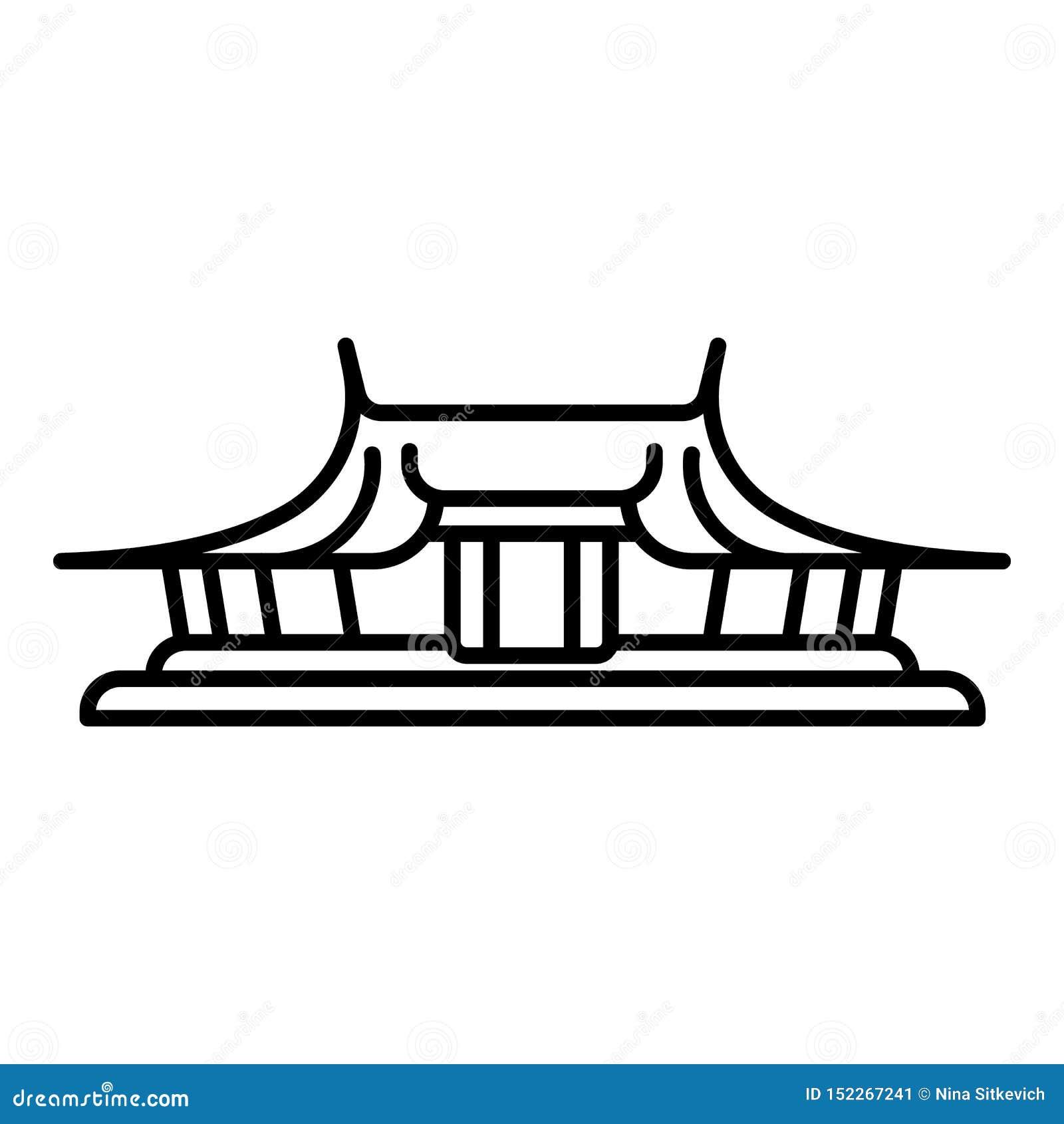 Taipei świątynna ikona, konturu styl