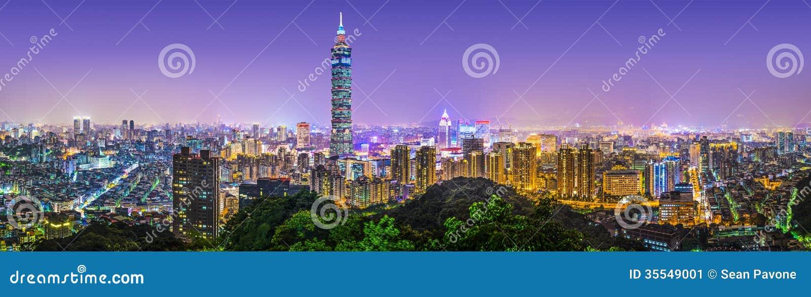Taipei miasta panorama