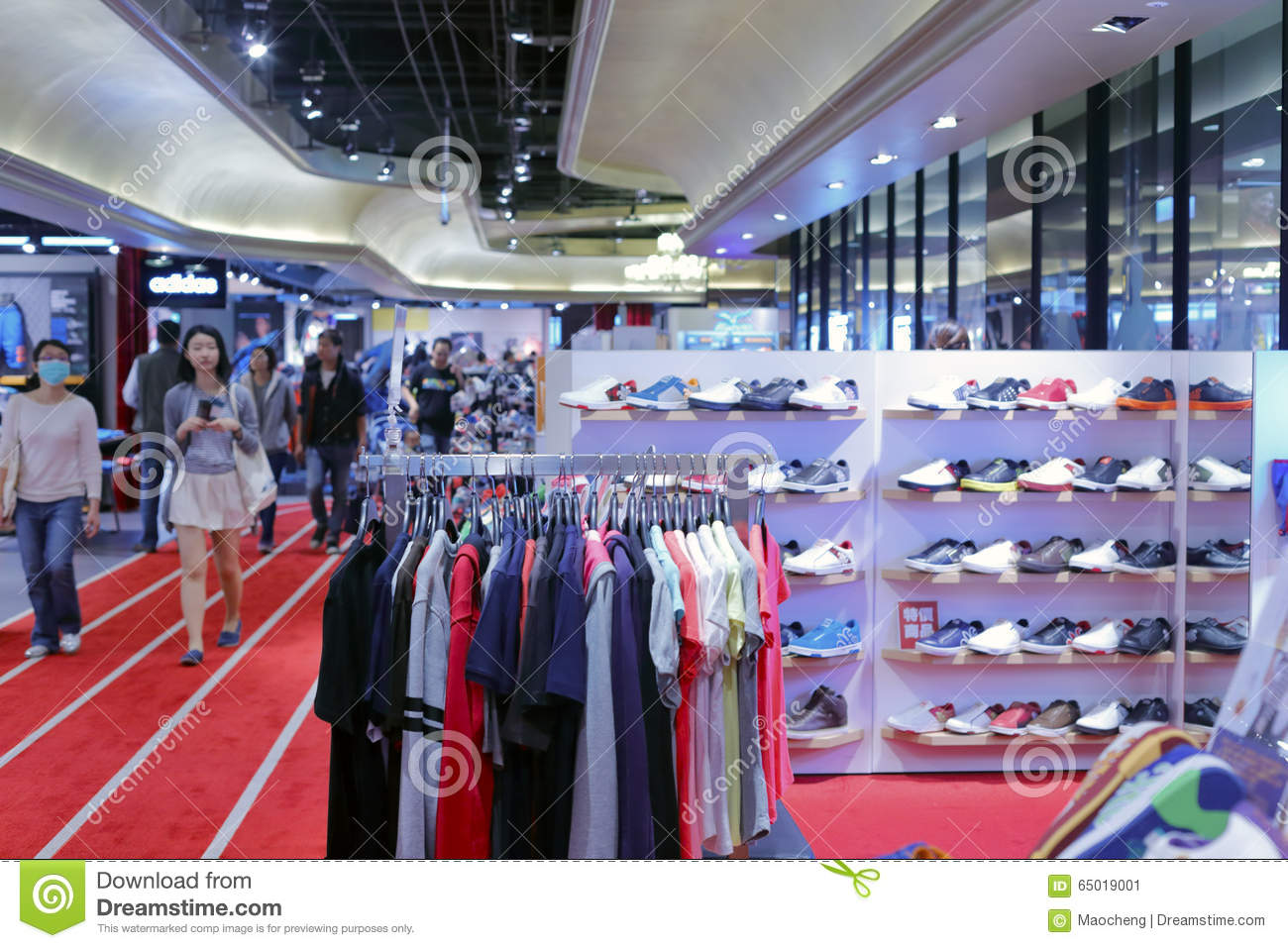 8890daa8ba6 Taipei sport clothing shop editorial photo. Image of fashion - 65019001